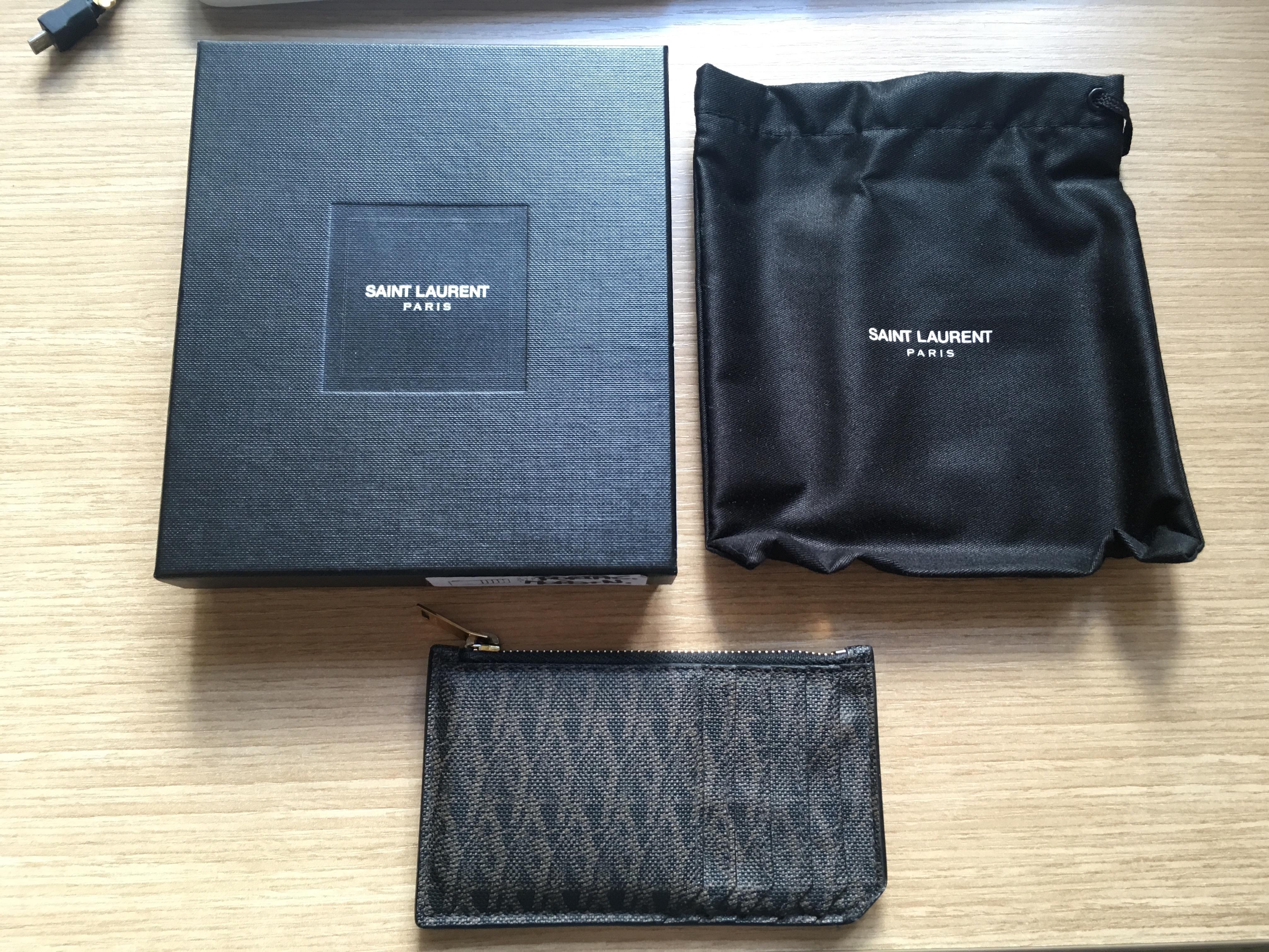 e8508cdff48 Saint Laurent Paris 'paris 5 Fragments' Zip Pouch/ Card Holder | Grailed