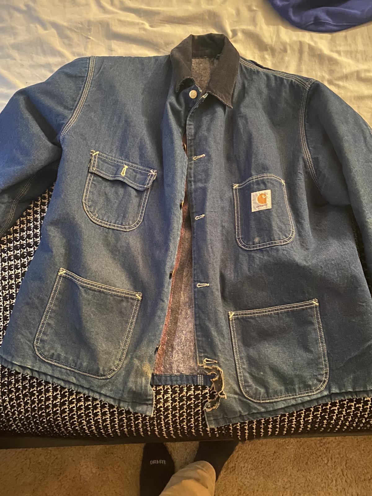 Rare Design Vintage Brand Carhartt Jacket Hoodie 1990s