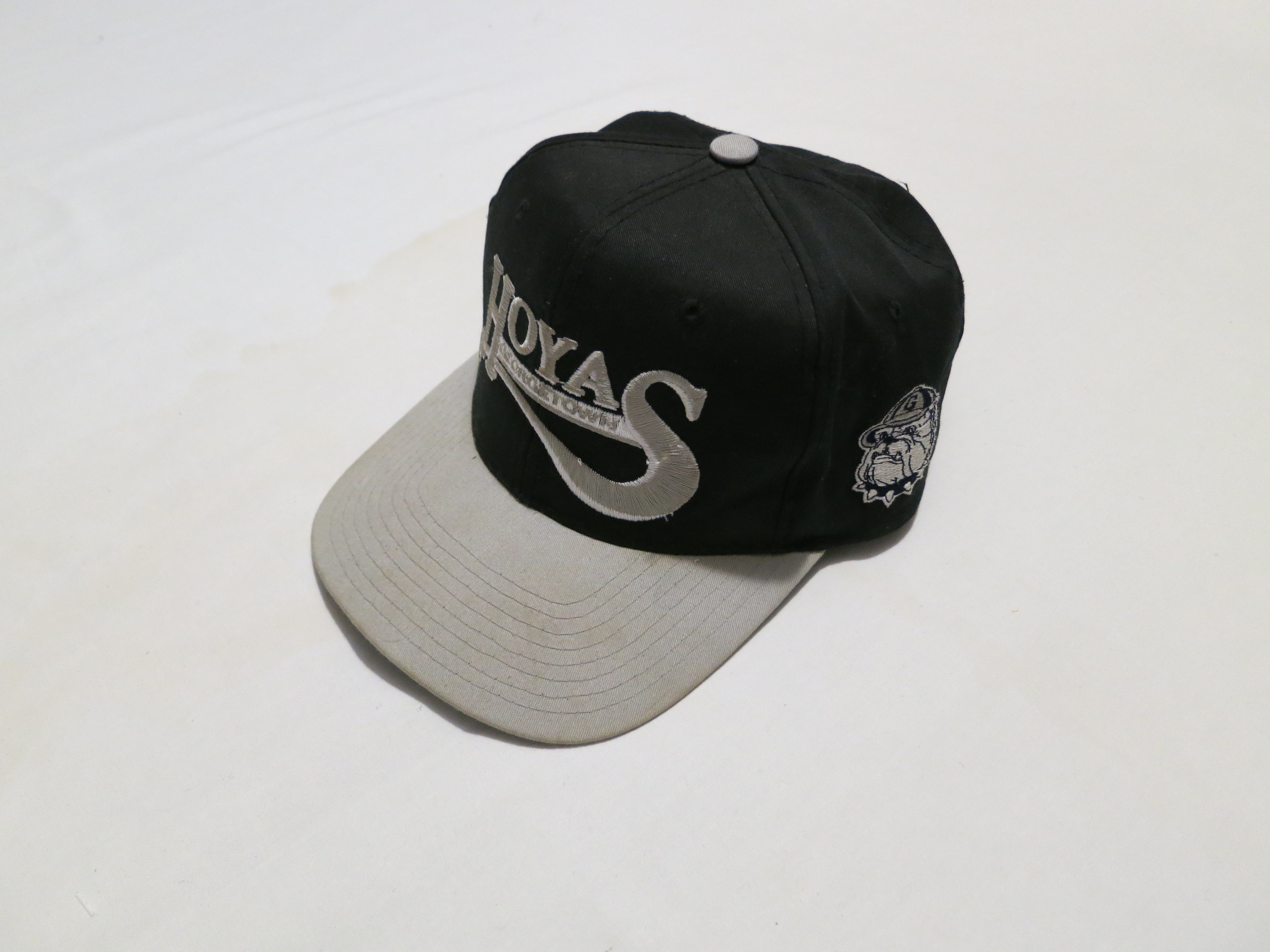 3e6b6a04636 Nike Rare Vintage Ncaa Georgetown Hoyas Starter Script Basketball Snapback  Hat Iverson