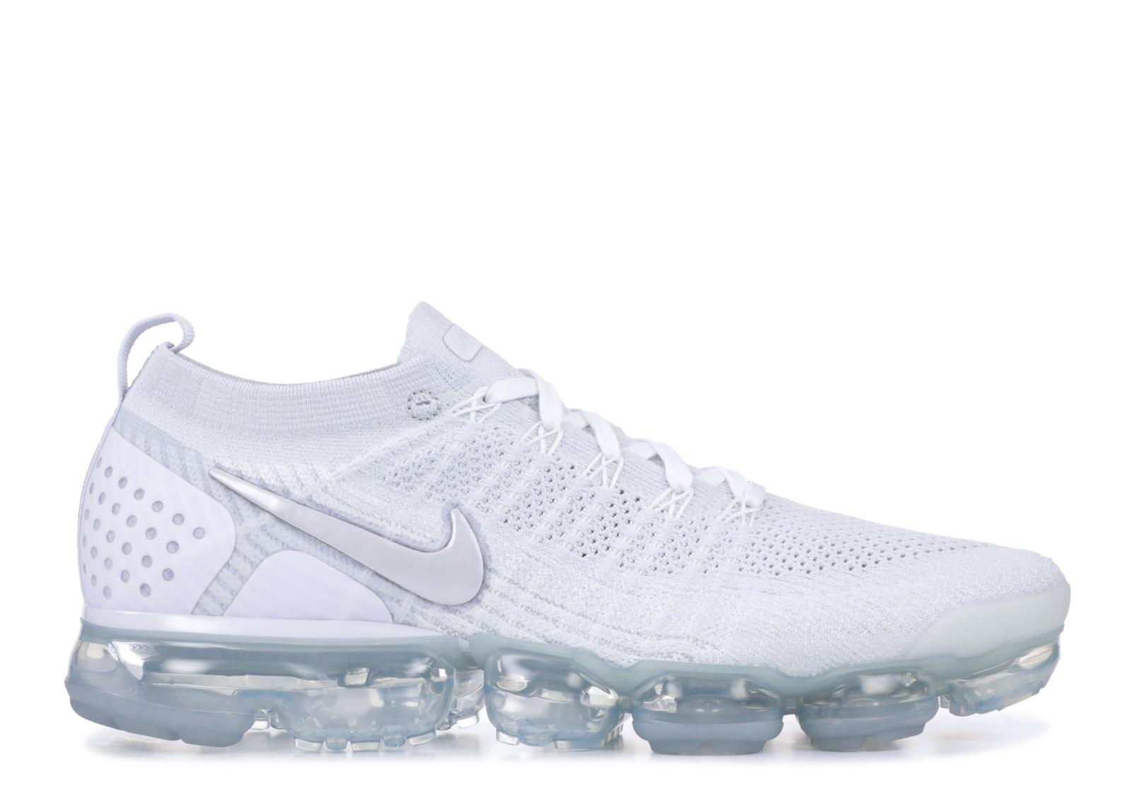 """quality design b0a8a 74ae2 Nike Vapormax Flyknit 2 """"Triple White"""" WHT/PR PLTNM 942842-105"""