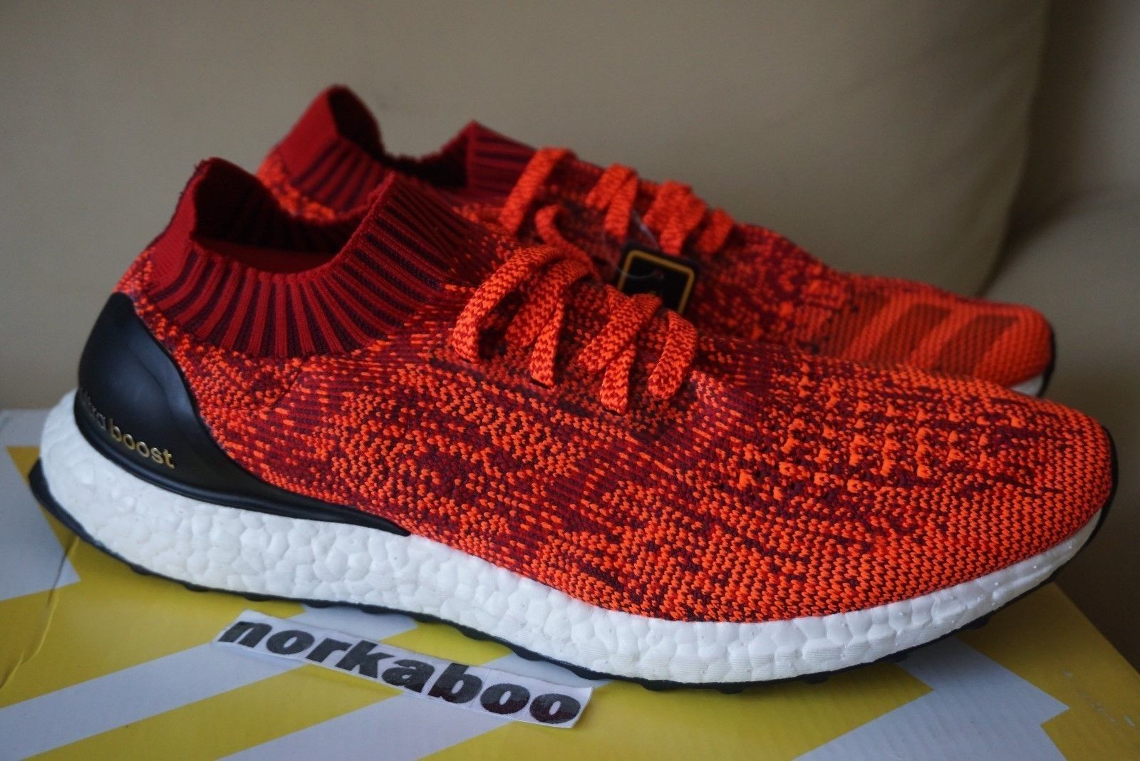 quality design ab293 d221c Adidas Ultra Boost Uncaged Solar Red Black White BB3899