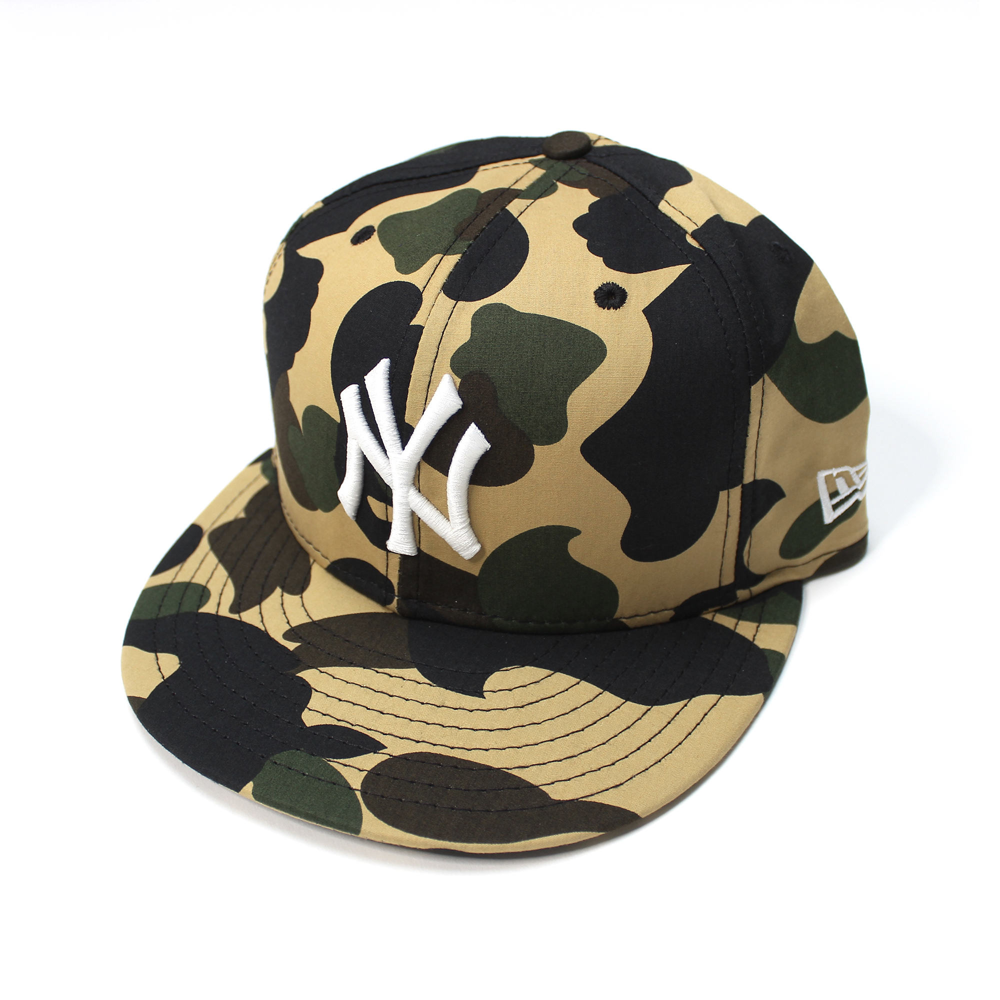 8ab8cb93bfe Bape × New Era. 2008 NY Exclusive 1st Camo Yankees Logo Fitted Hat (Yellow)  ...