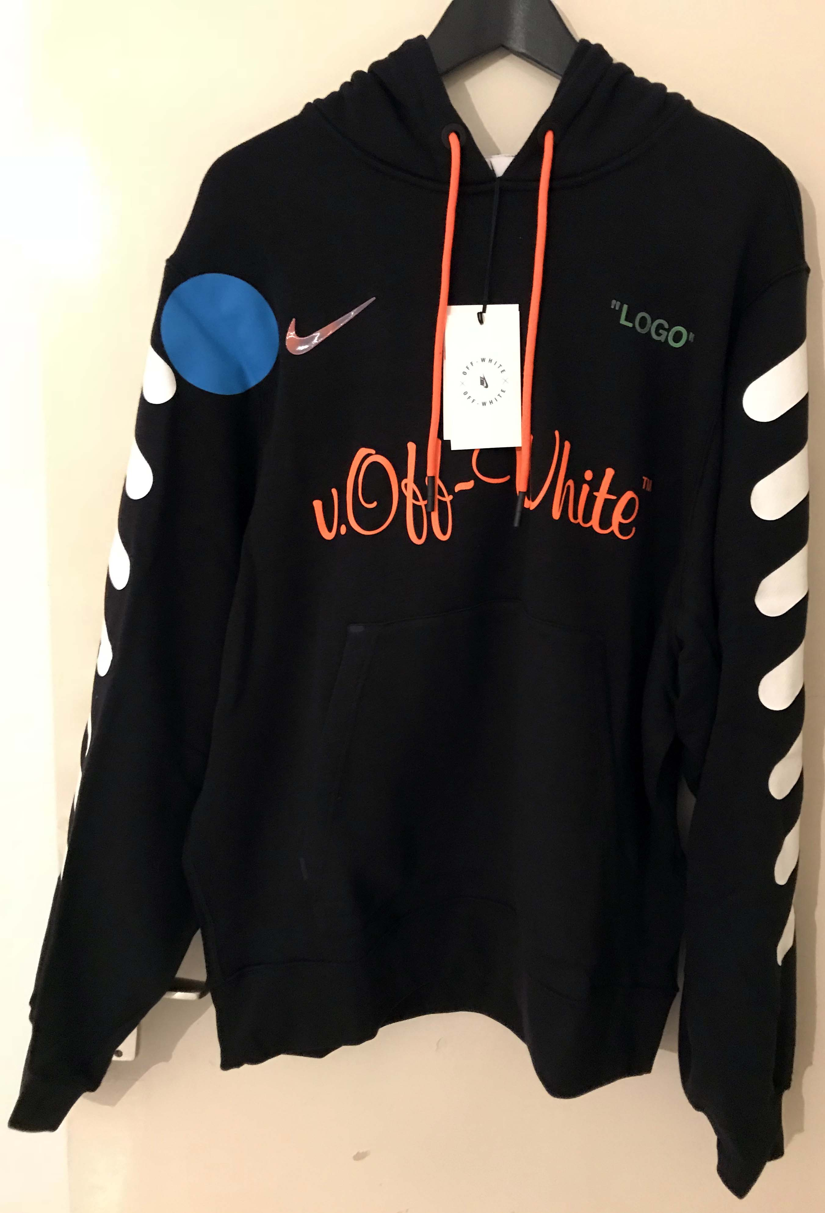 c28894b9 Nike x Off White Soccer Hoodie NEW WITH TAGS BLACK SIZE L