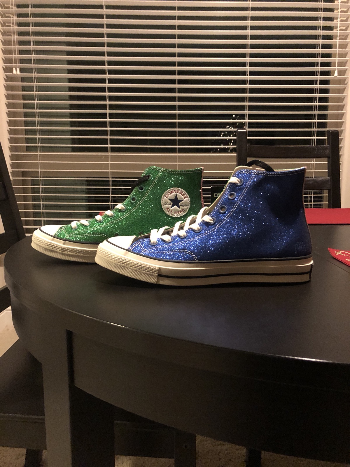 39423ad37e248f Converse Converse Chuck Taylor All Star 70s Jw Anderson Glitter Blue green Black  Size 9.5 - Hi-Top Sneakers for Sale - Grailed