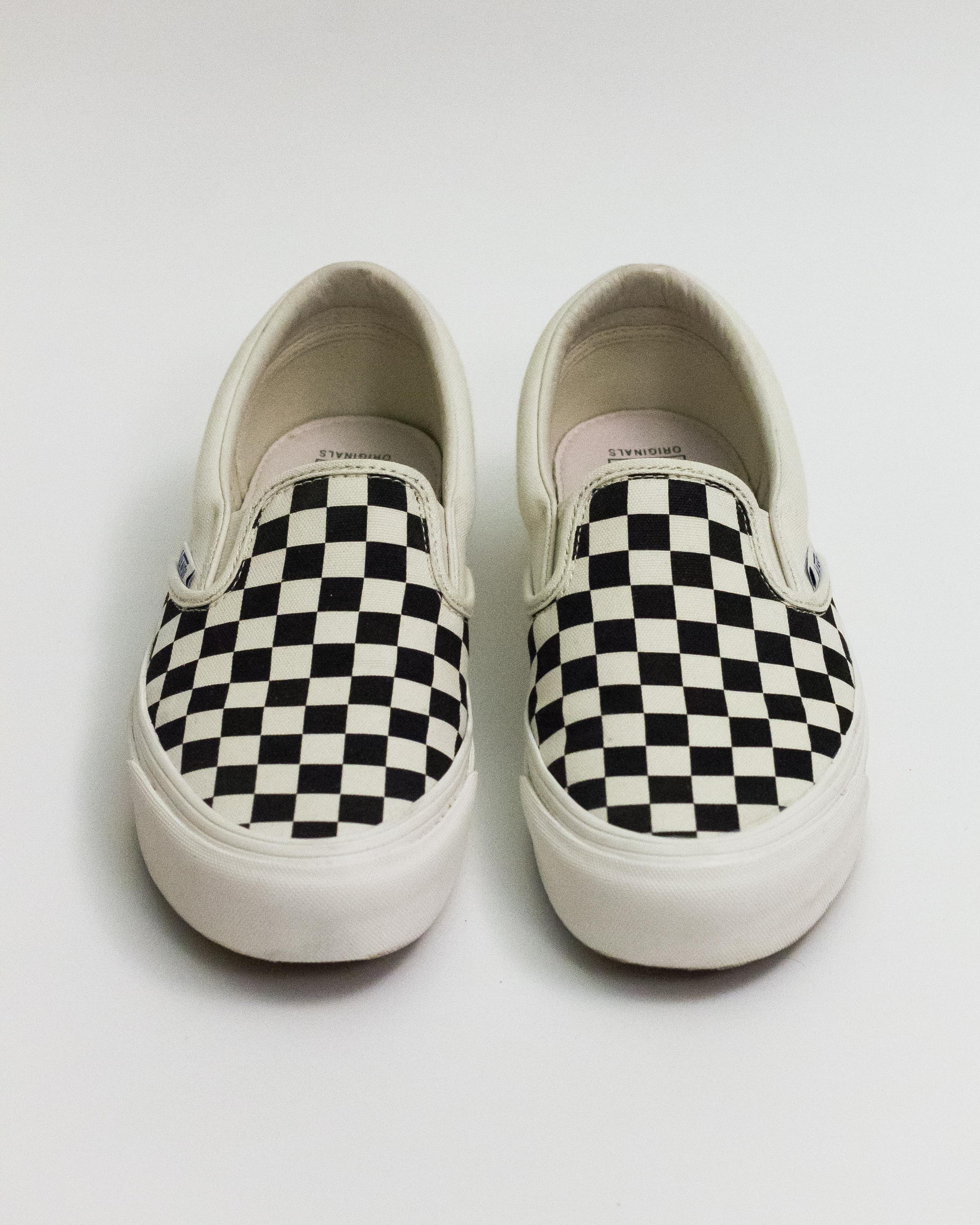 Vans Black   Off-White OG Checkerboard Classic Slip-On Sneakers Size ... 9e88dfe28