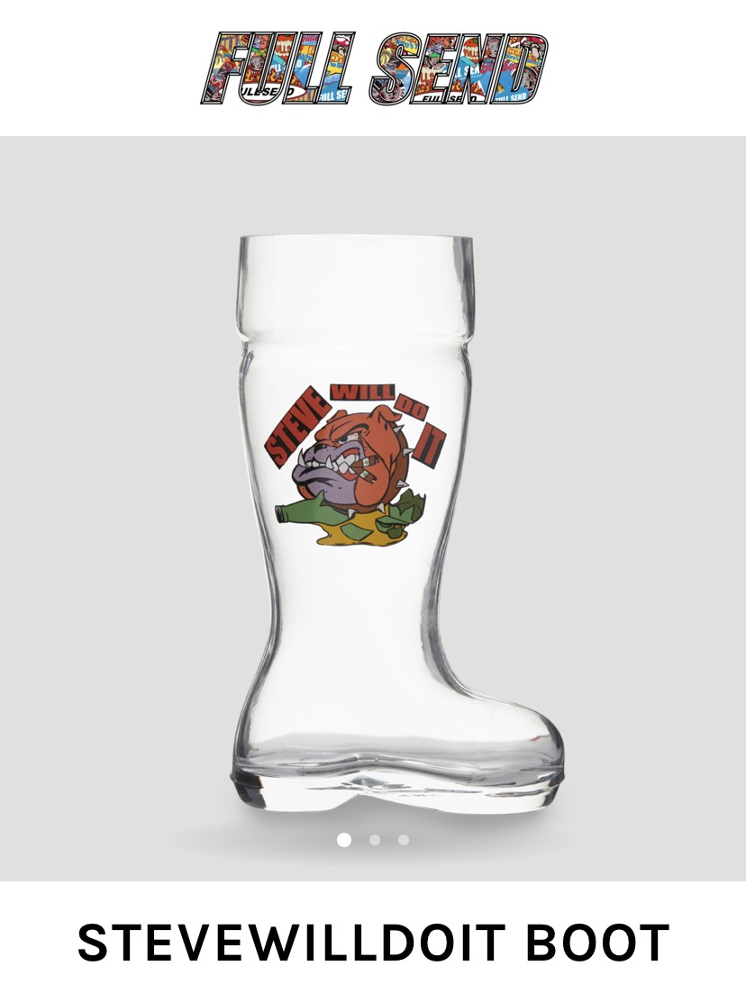 Full Send By Nelk Boys Stevewilldoit Drinking Boot Grailed I get that it's staged but having known. grailed