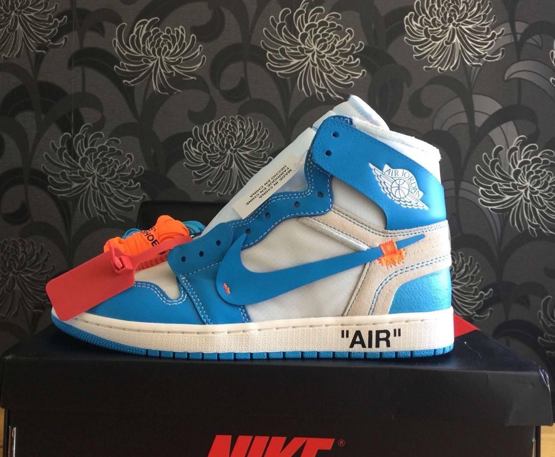 nike air jordan 1 x off white unc blue