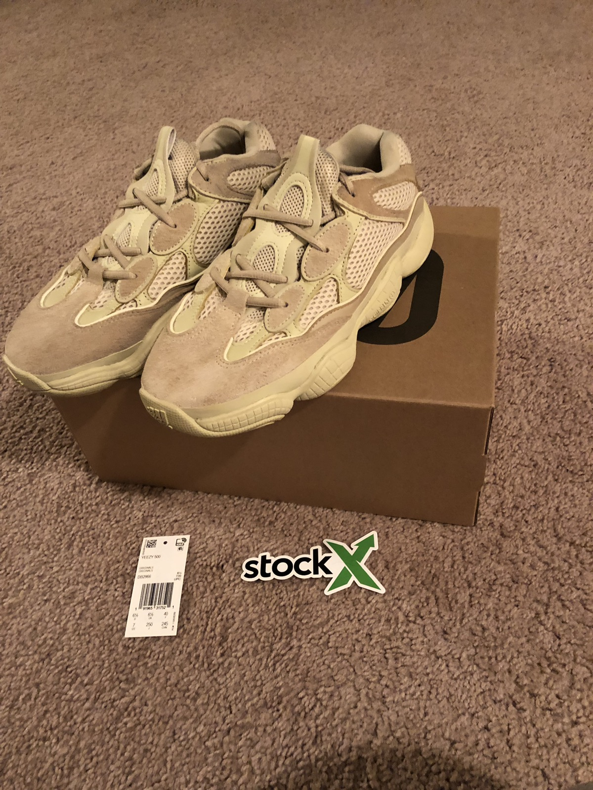 a111f2230 Yeezy Boost Adidas Yeezy 500 Super Moon Yellow Size 7 - Low-Top Sneakers  for Sale - Grailed