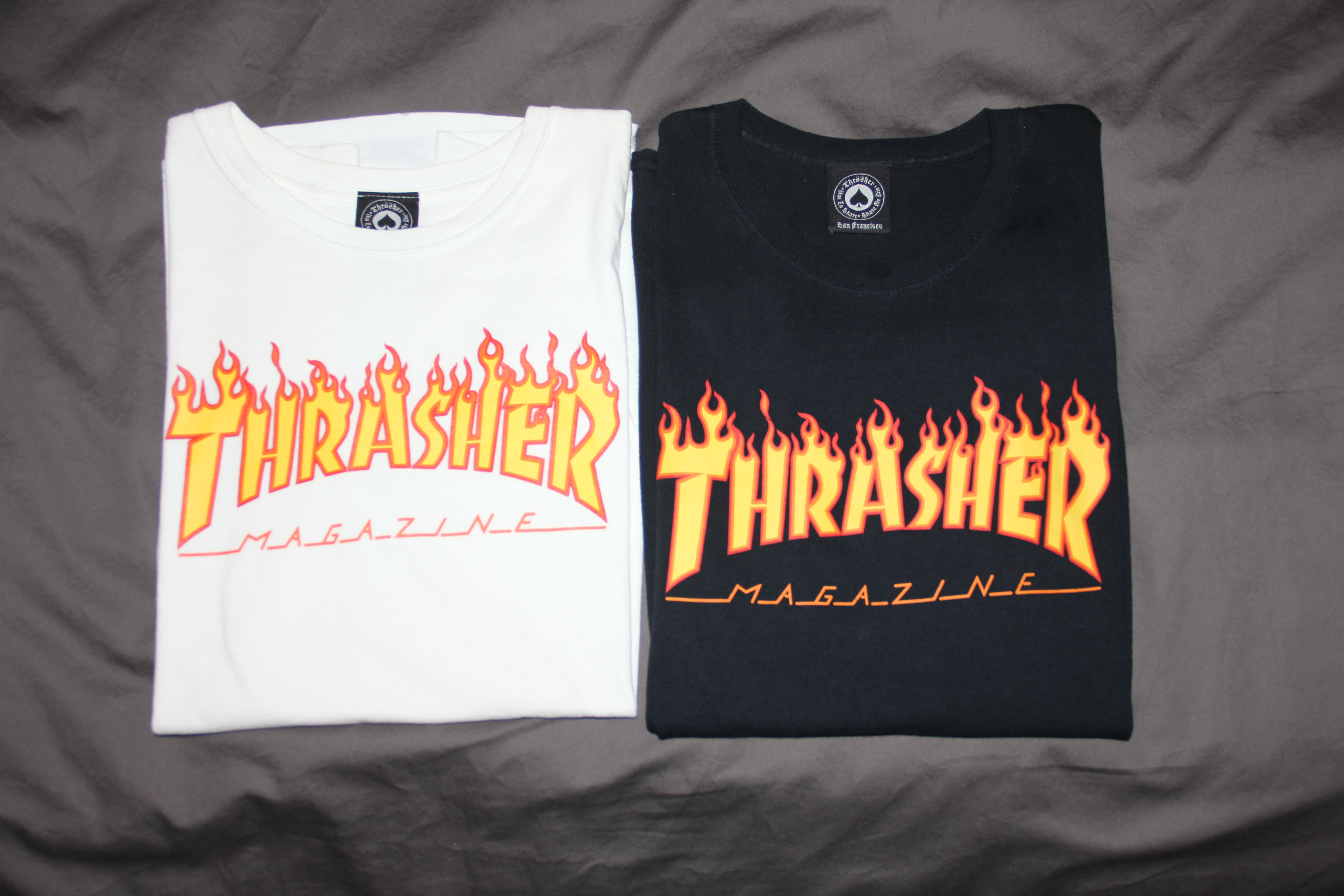 f510e296a38c Thrasher. Thrasher Skateboard Magazine Flame T-Shirt (White ...