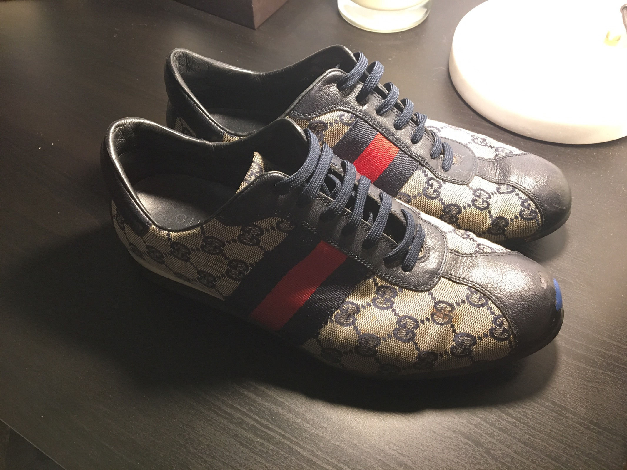 0ce344be9ce Gucci 117711 Lace-up Sneaker Size 8 - Low-Top Sneakers for Sale ...