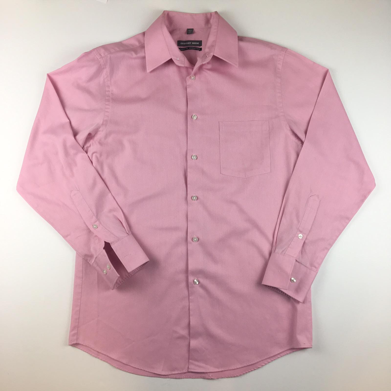 Geoffrey Beene Geoffrey Beene Mens Classic Fit Wrinkle Free Pink