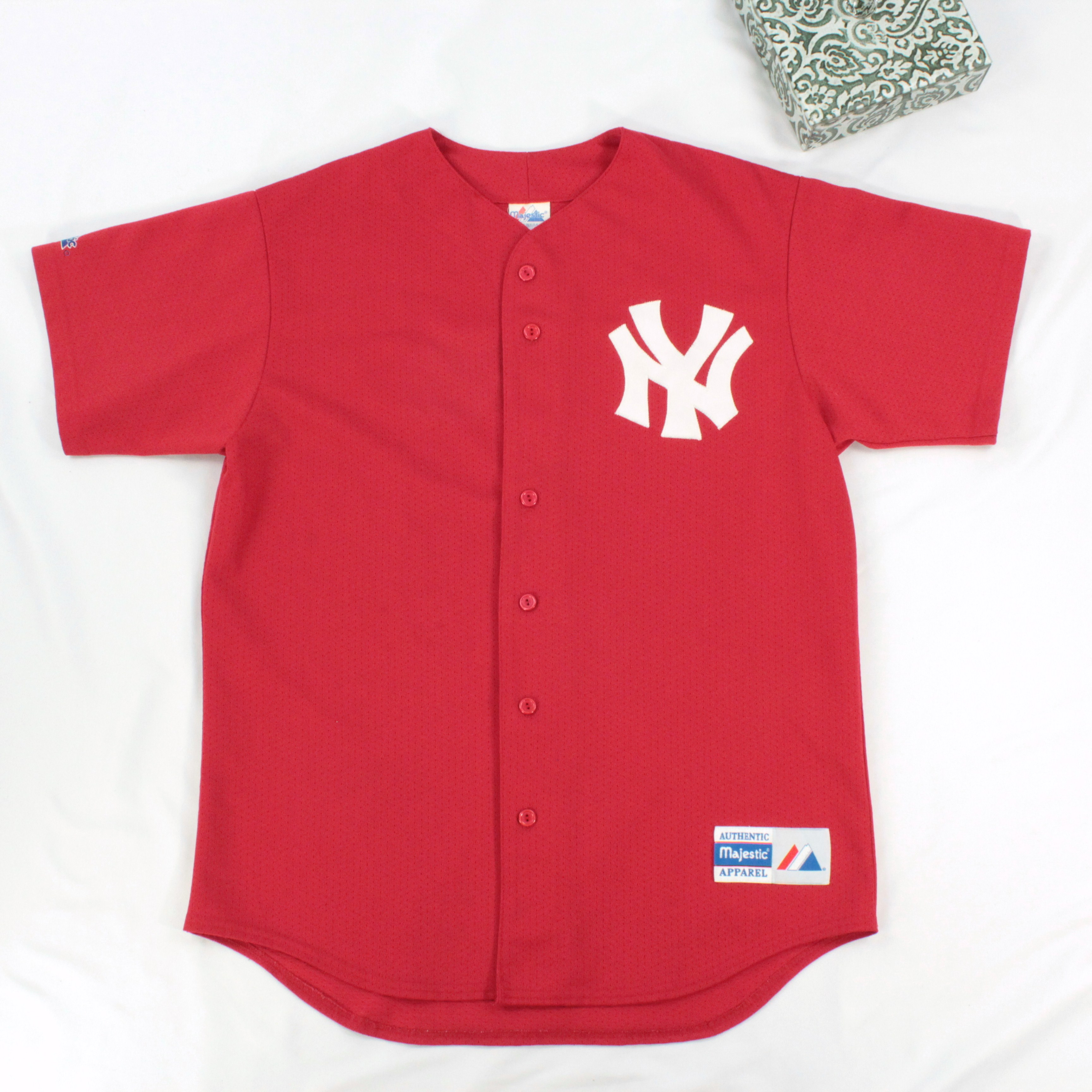 3b2801e1 Vintage × Majestic × Made In Usa ×. VTG NY Yankees Baseball Jersey Size L  Adult ...