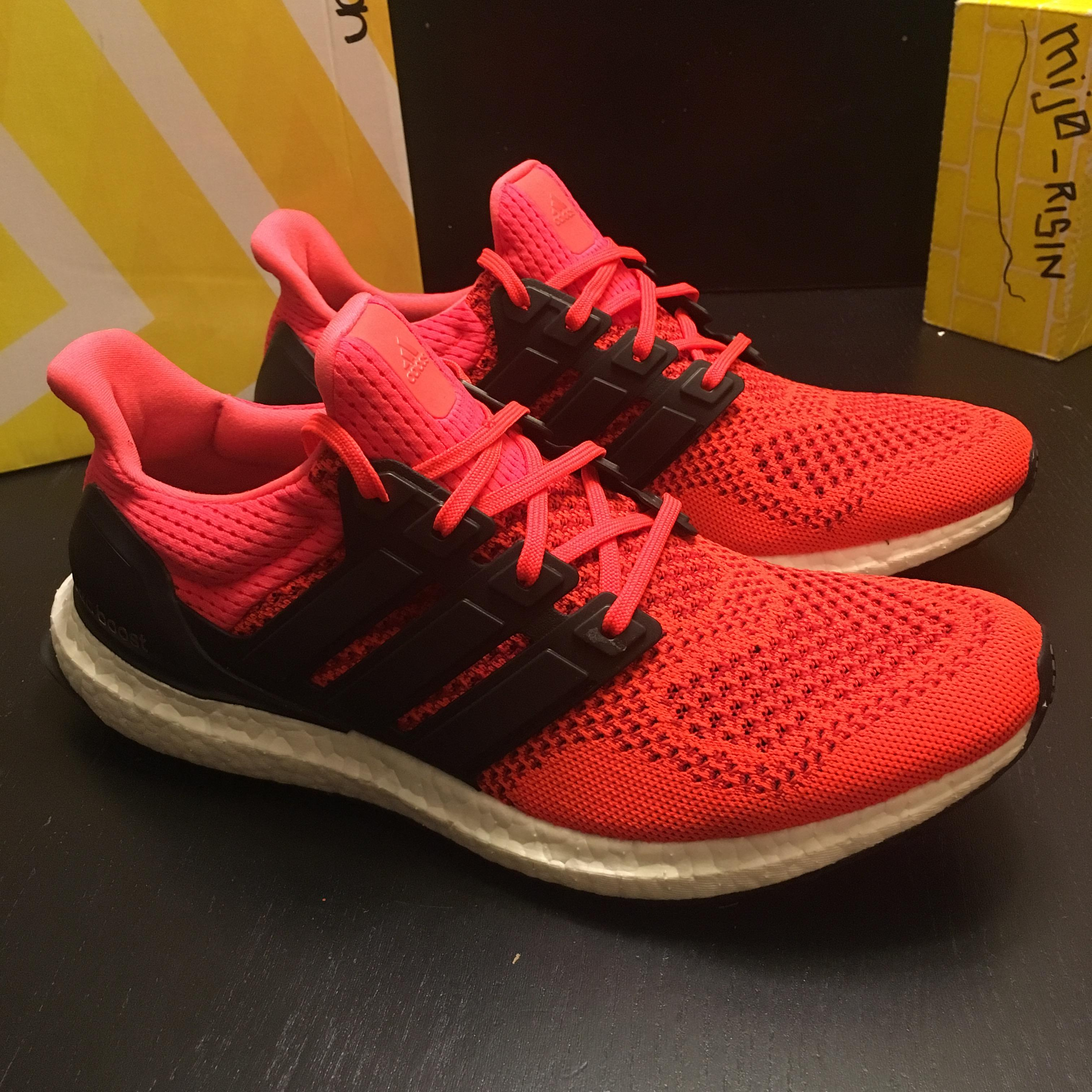 54cd71a497f19 Adidas PADS Adidas Ultra Boost Solar Red 1.0 B34050 Men Size 9 Size ...