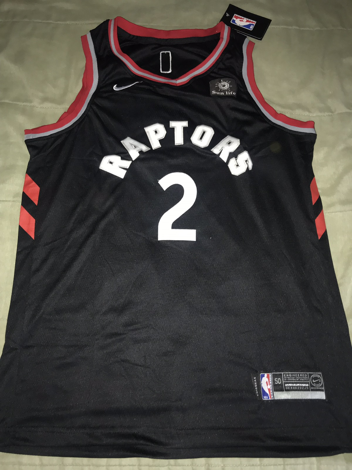 new style 49d68 6ab62 Kawhi Leonard Toronto Raptors Spurs OVO October's Very Own Nike Jersey