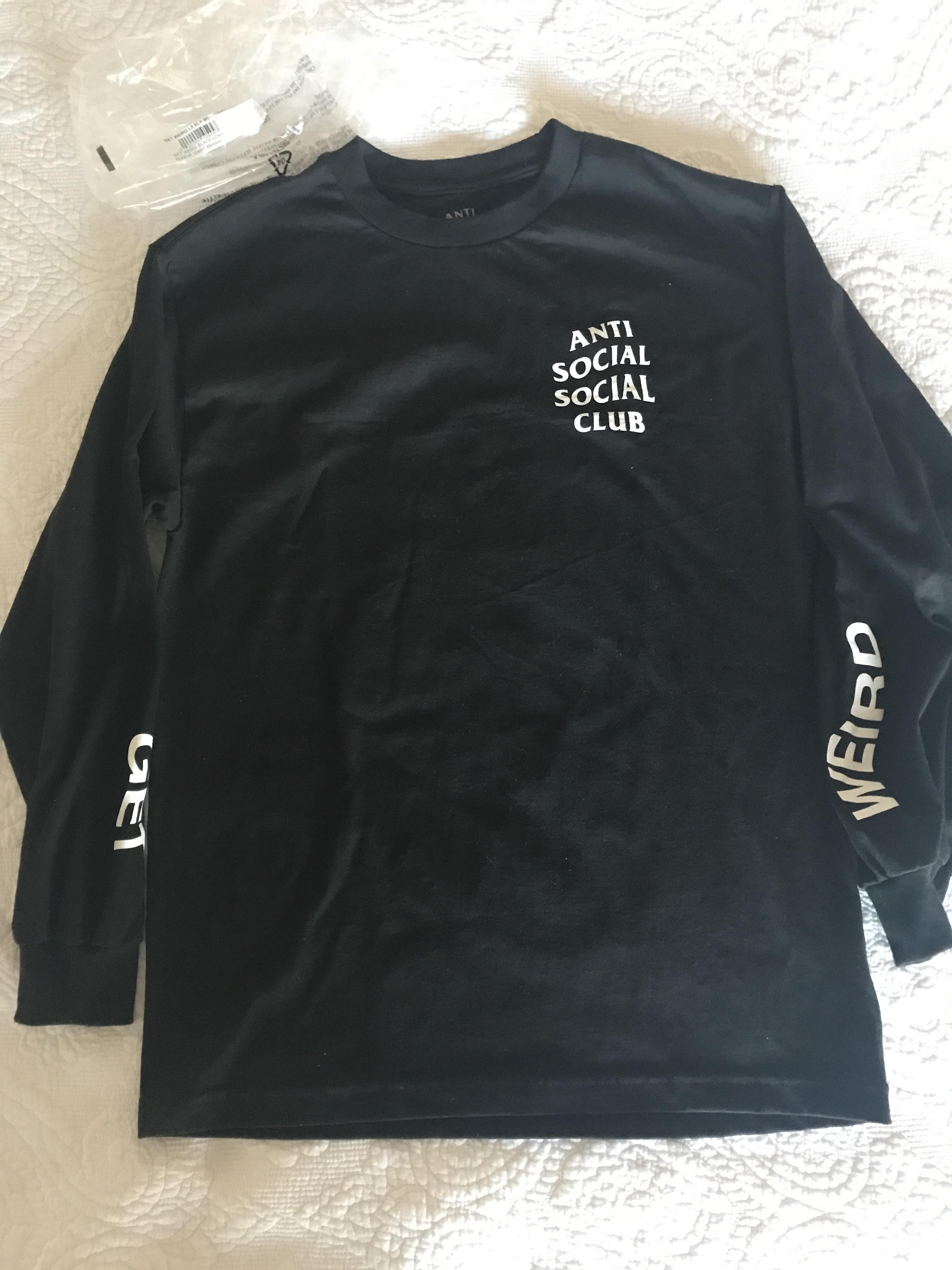 36258fbe3ca8 Antisocial Social Club Assc Get Weird Black Long Sleeve Shirt