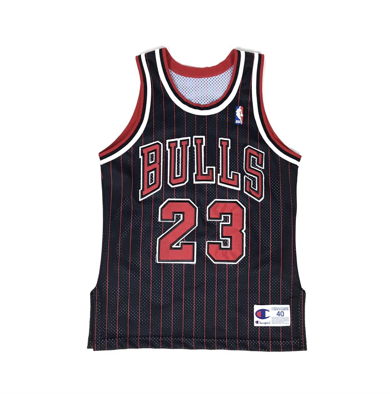 brand new dd05e 4fb87 Vintage Champion Chicago Bulls Jordan Pinstripe Jersey