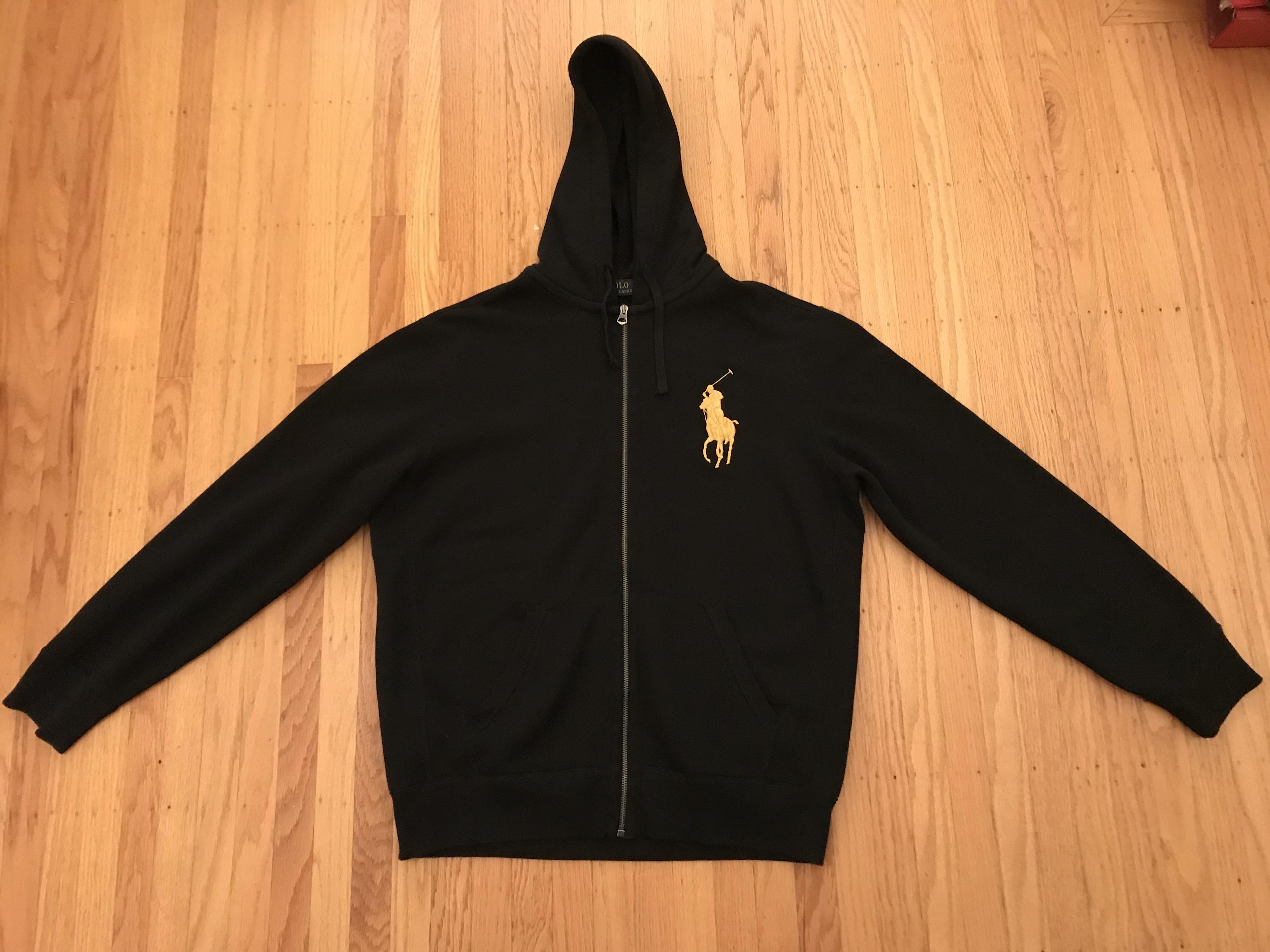 Polo Ralph Lauren Black Big Pony Full Zip Sweatshirt Track Suit NWT