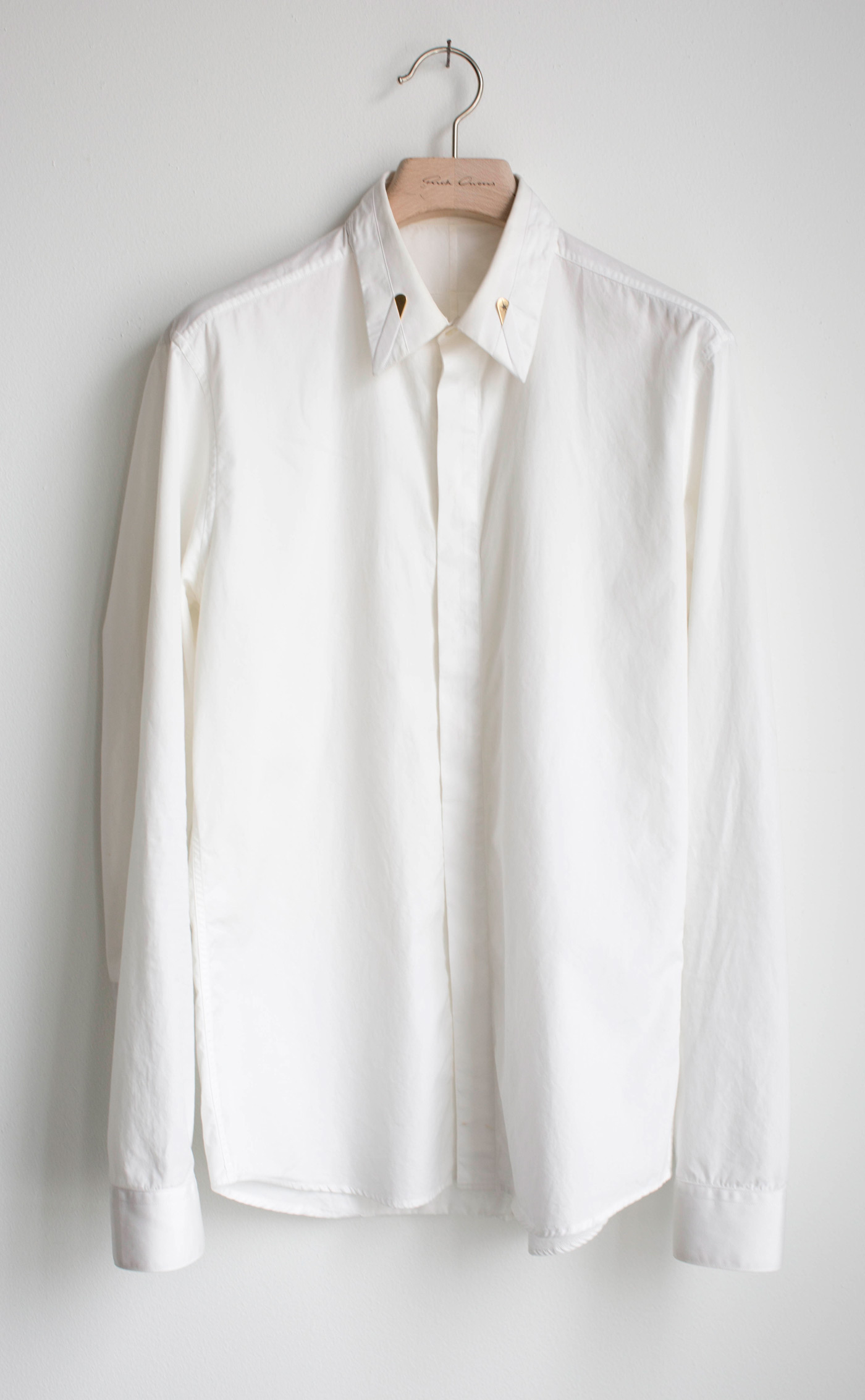 Givenchy White Gold Star Collar Pin Button Up Size M Shirts