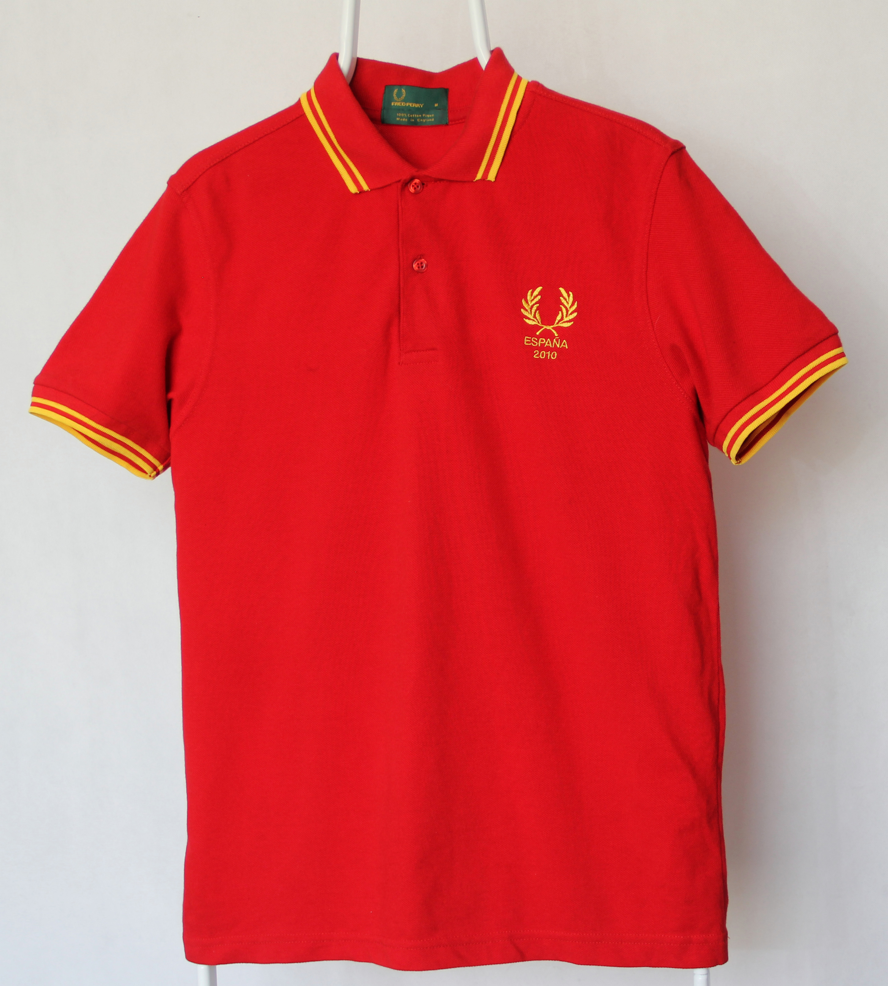 b0c0ceb5e Fred Perry ×. Fred Perry World Cup Spain 2010 Polo Shirt M