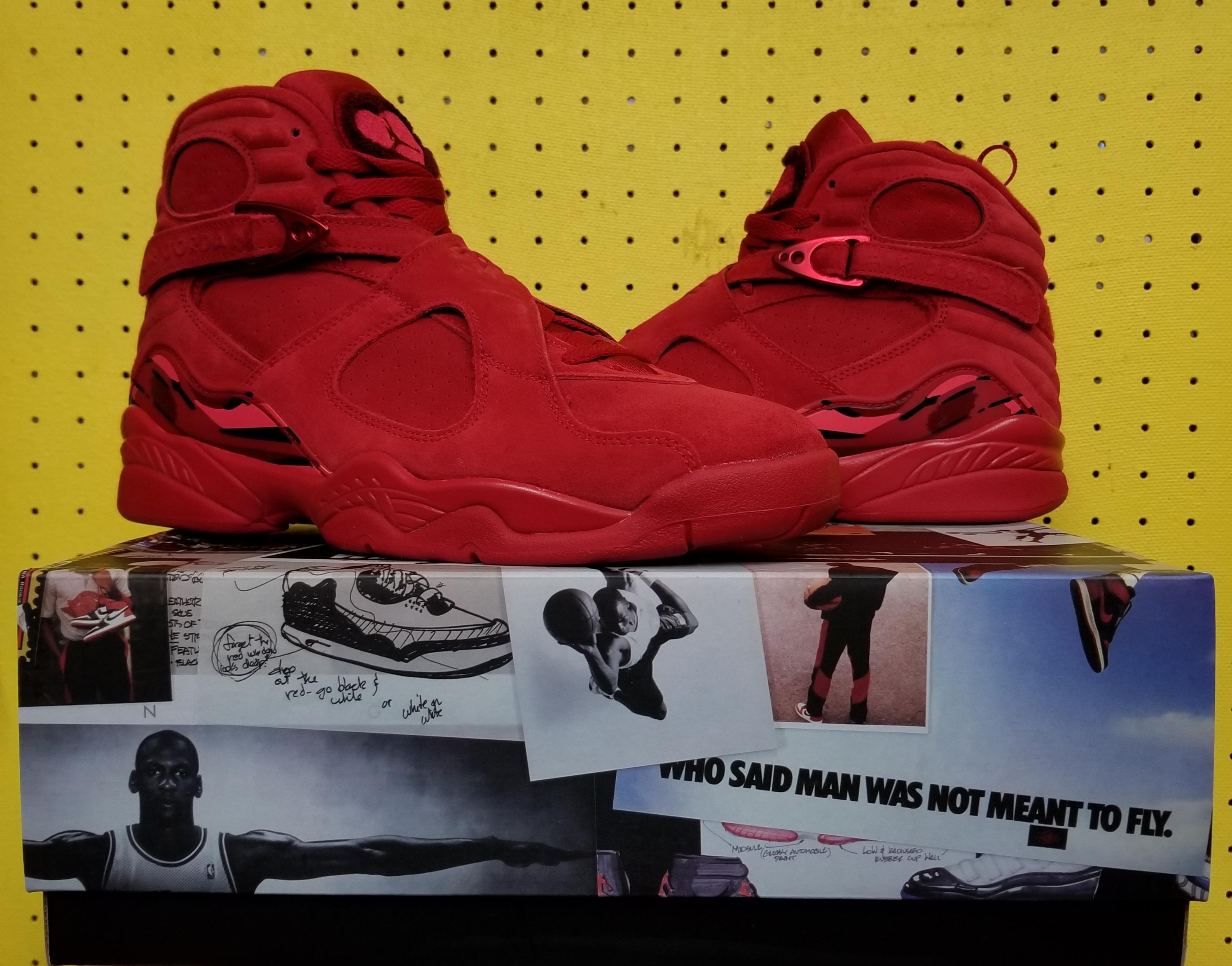 470b866d629c Nike Brand New Women s Air Jordan 8 Viii Retro Sz 10.0 Valentine s Day Gym Red  Aq2449 614