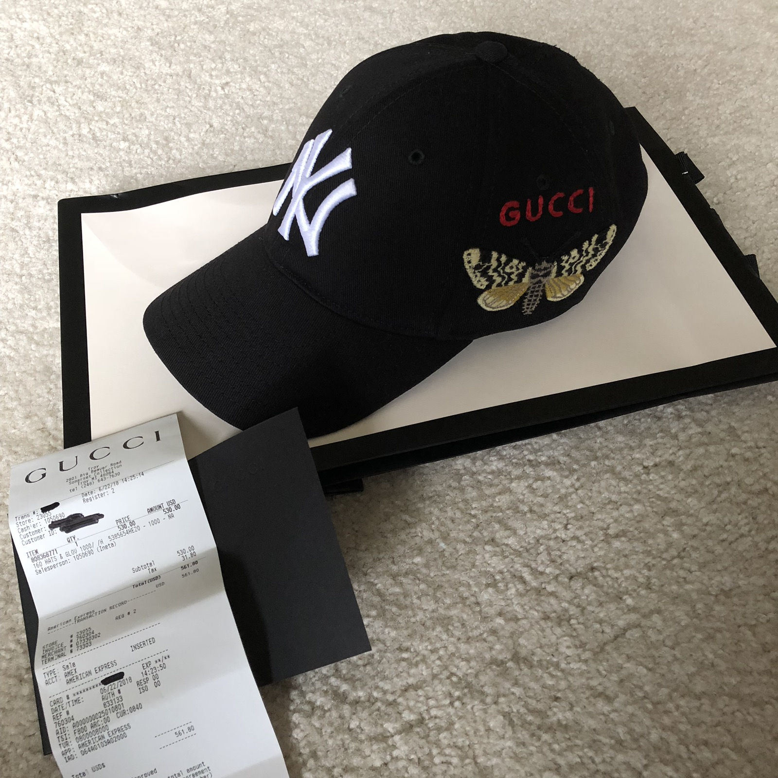Gucci Gucci New York Yankees NY Baseball Cap   Hat Black Mint Sold Out Size  one size - Hats for Sale - Grailed 7c1a87c0497