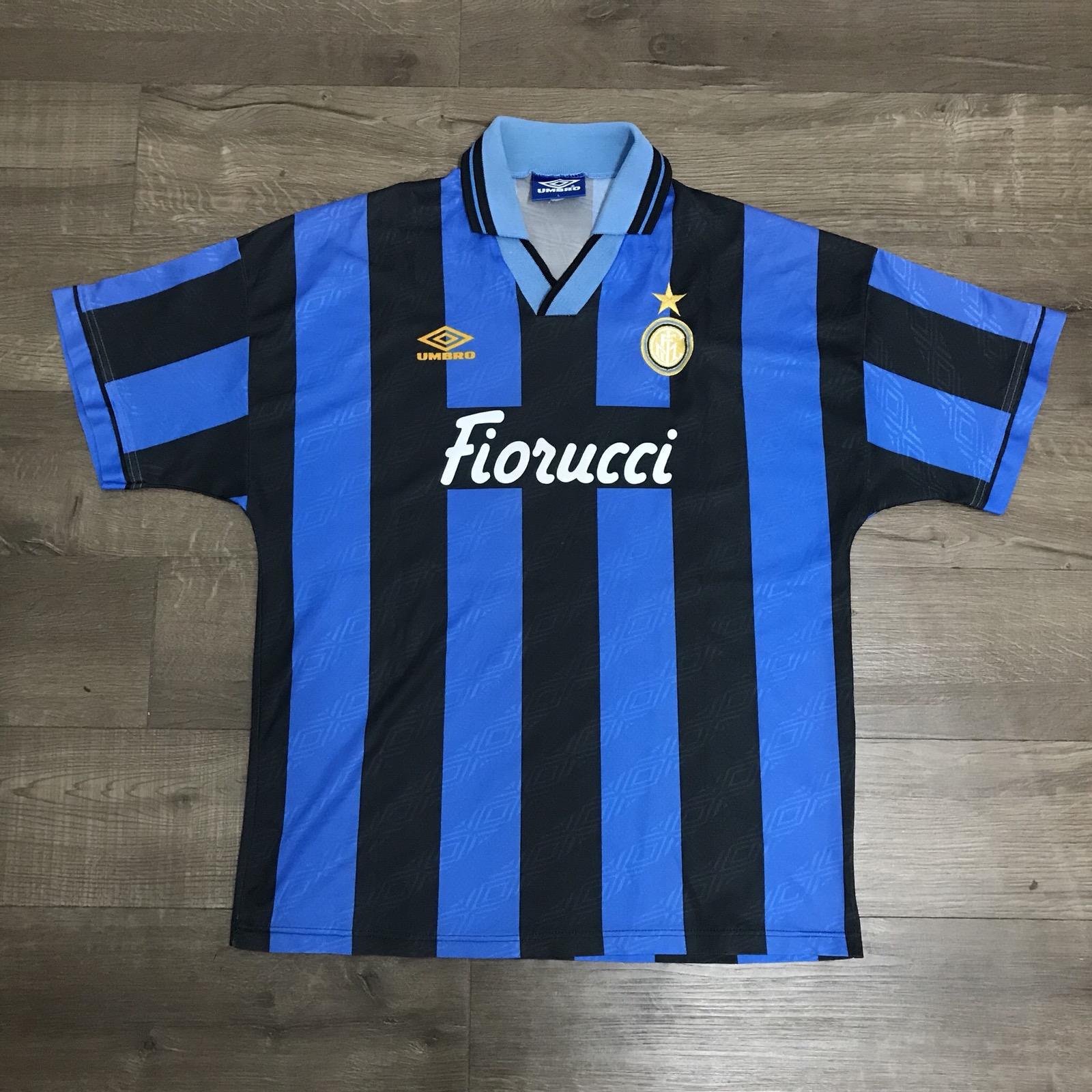 sale retailer fd45d dafa7 Vintage 94/95 Inter Milan Home Jersey