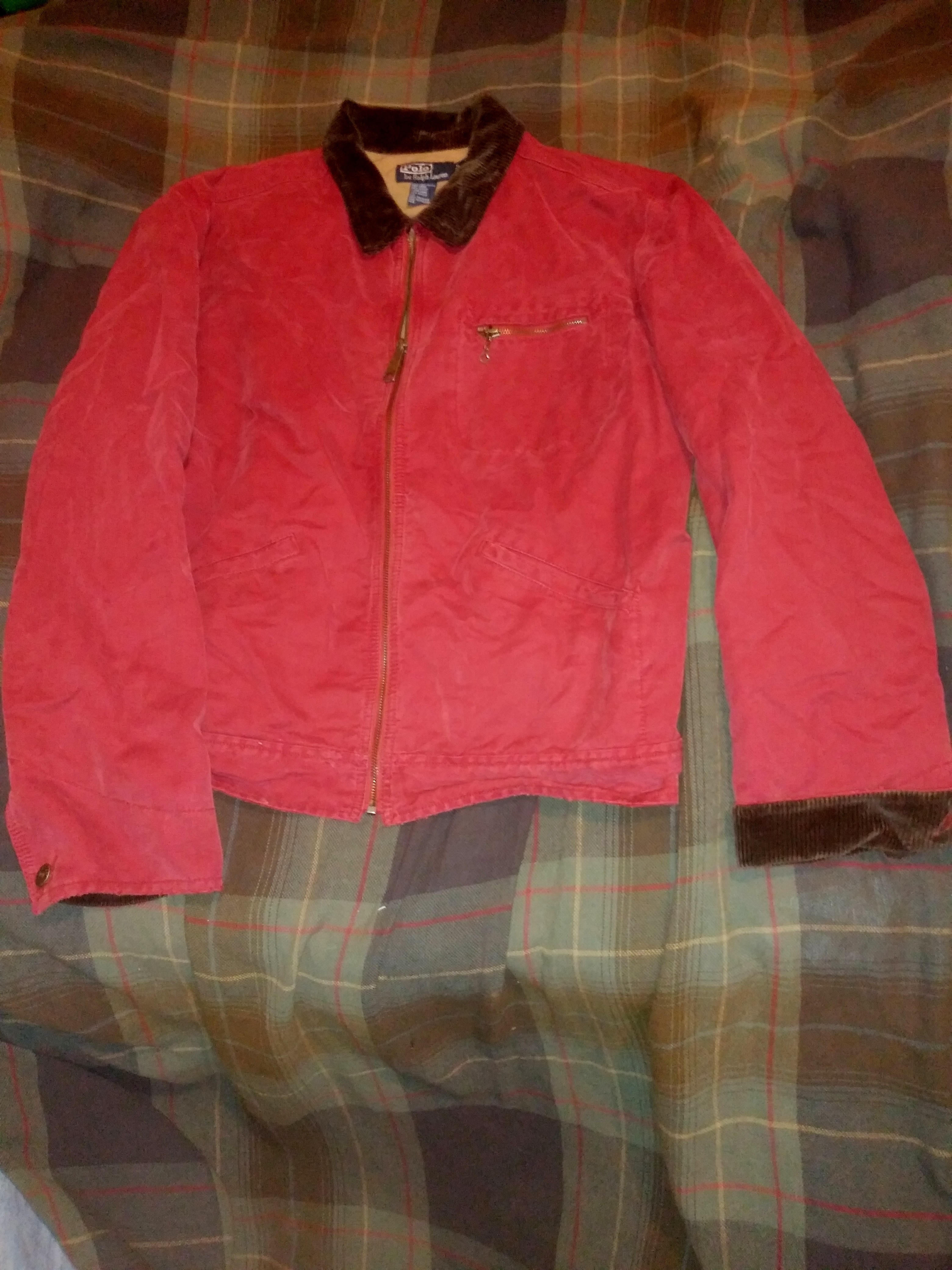 Offers Collar Nowsorry It Drop Size Corduroy Large Lauren Jacket Buy Deletionrare Last Polo Antique Red Ralph With No Before sQrhtdC