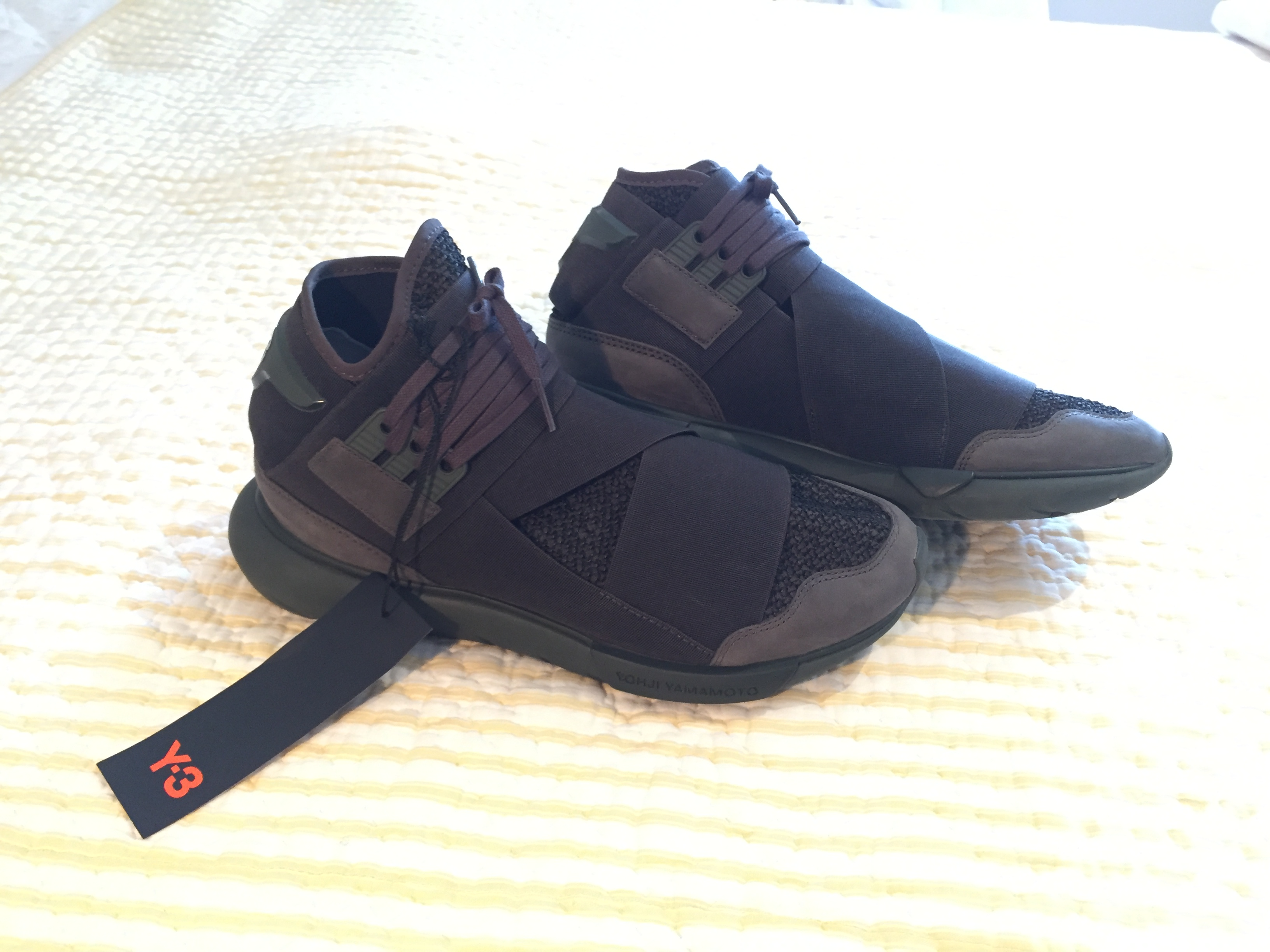 bd571e80f Y-3 Y-3 QASA HIGH   BLACK OLIVE CG3194 Size 8 - Hi-Top Sneakers for Sale -  Grailed