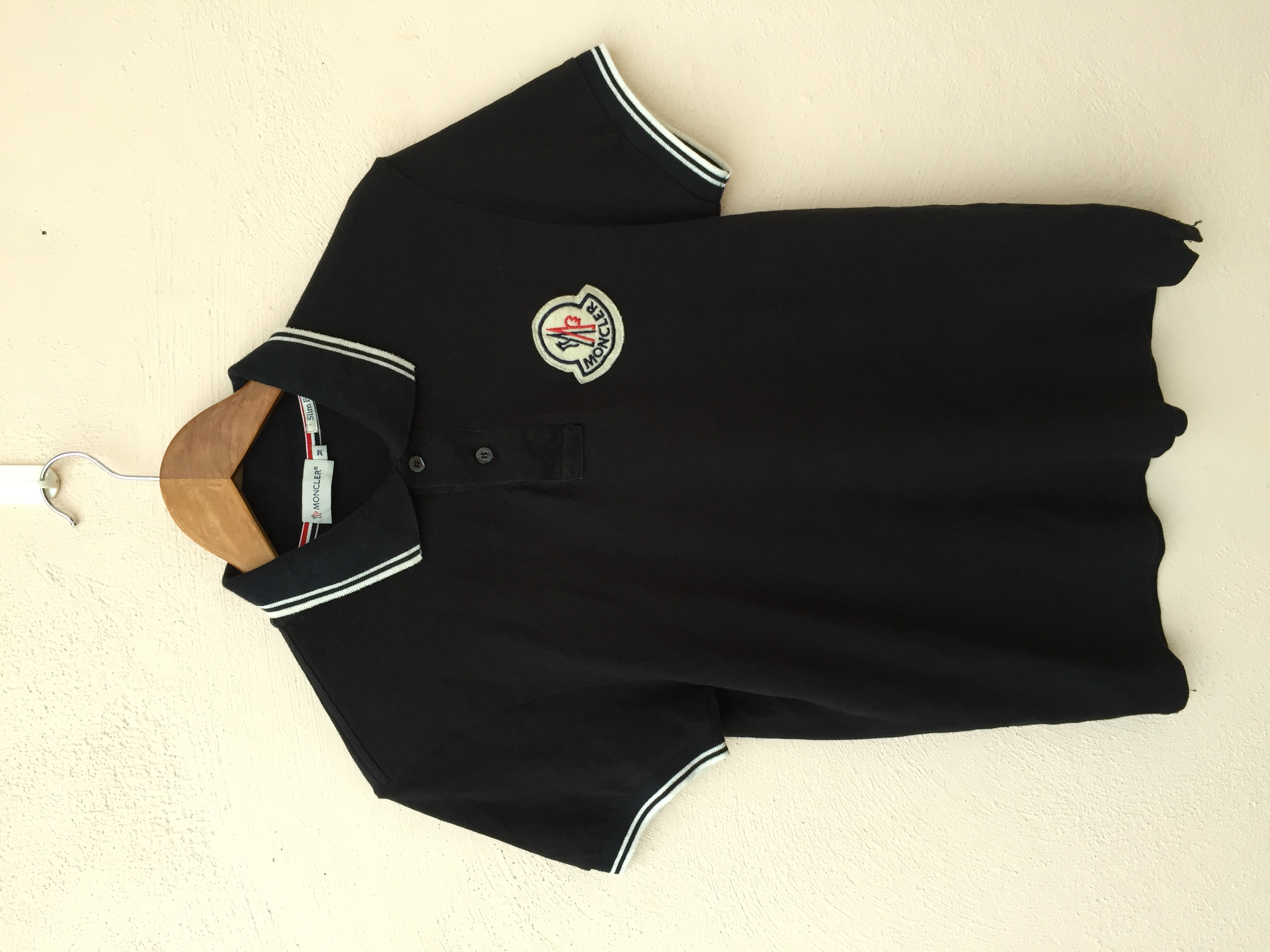 ed022ee4eb3e Polo For Patches Big Sale M Size Moncler Polos Logo Tipped RZTAwwxCq