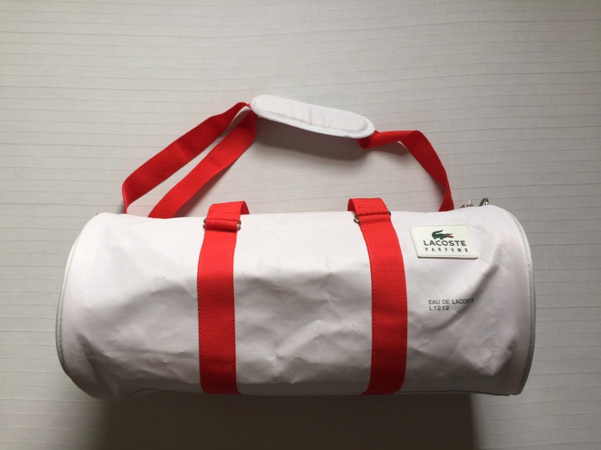 2b5a4fca1 Lacoste Lacoste🐊 Red/white Duffle/shoulder/gym Bag. Hiphop/rap/rare ...