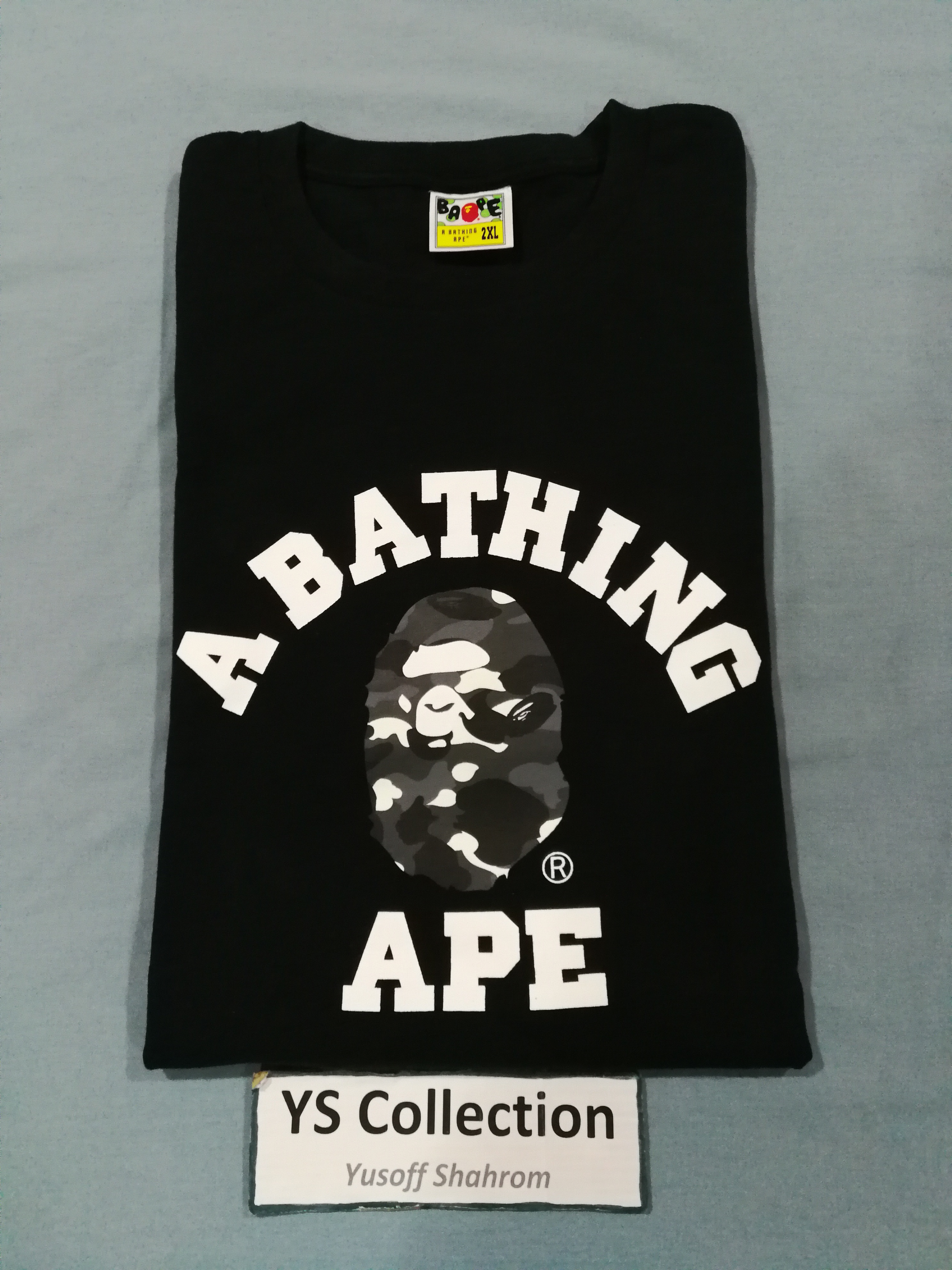 "37e56255 Bape Final Drop Price Xxl Bape City Camo College Tee ""glow In The ..."