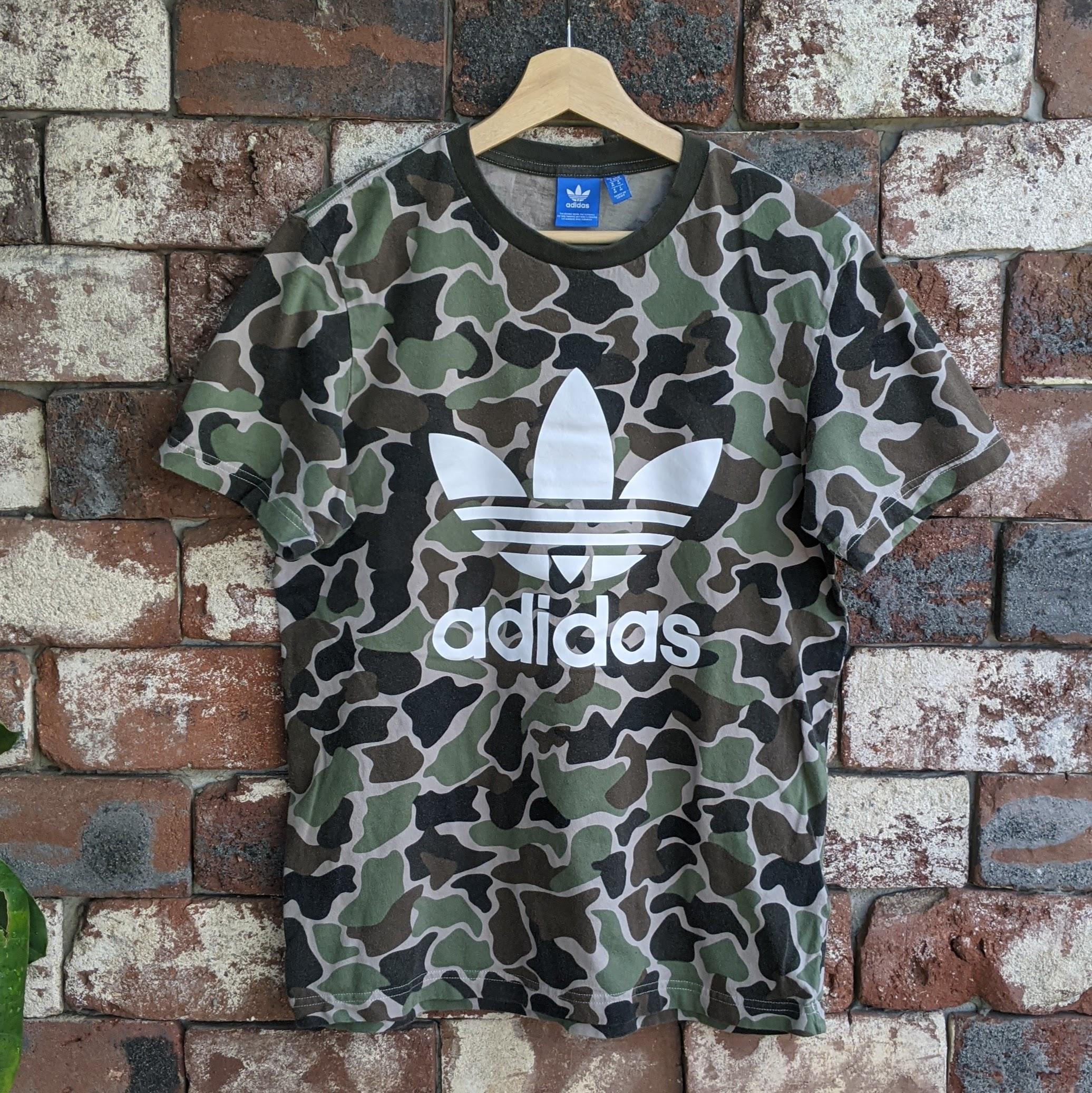 Adidas Adidas camouflage logo t-shirt