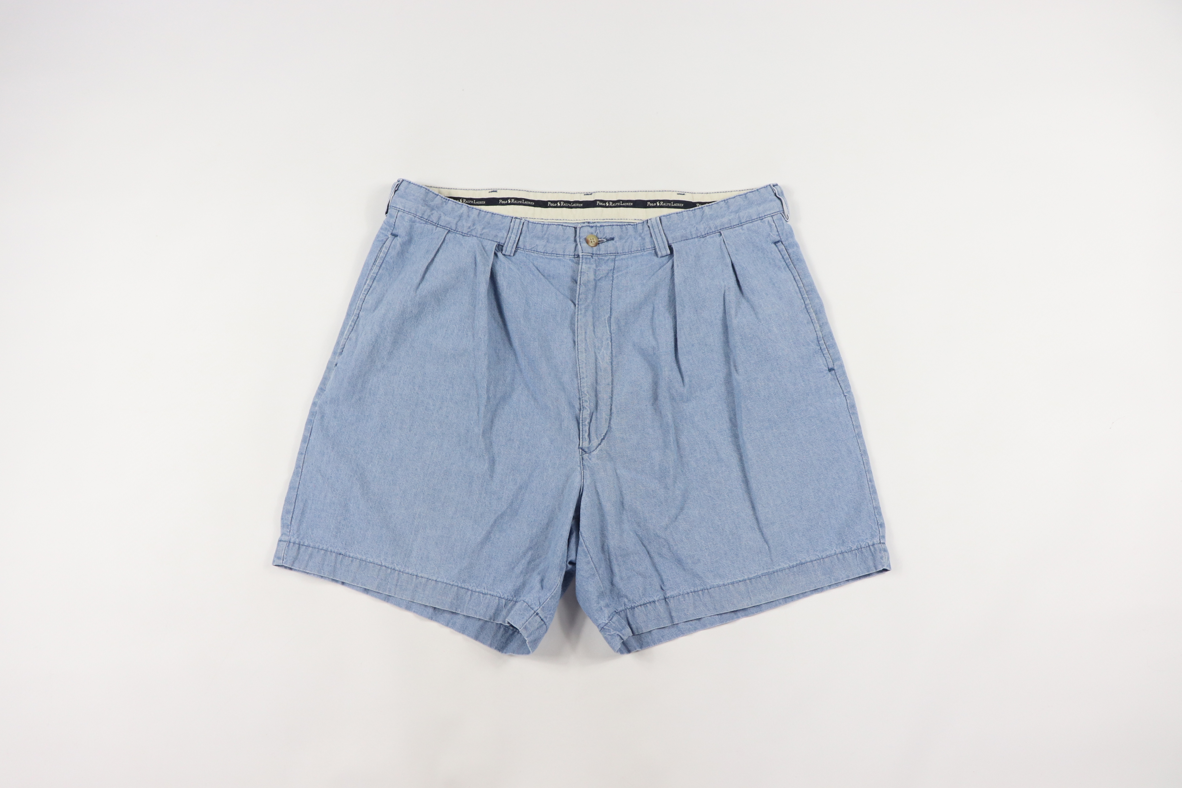 1a3fe96784 Polo Ralph Lauren × Vintage ×. Vintage 90s Polo Ralph Lauren Mens 36 Andrew  Short Chambray Shorts ...