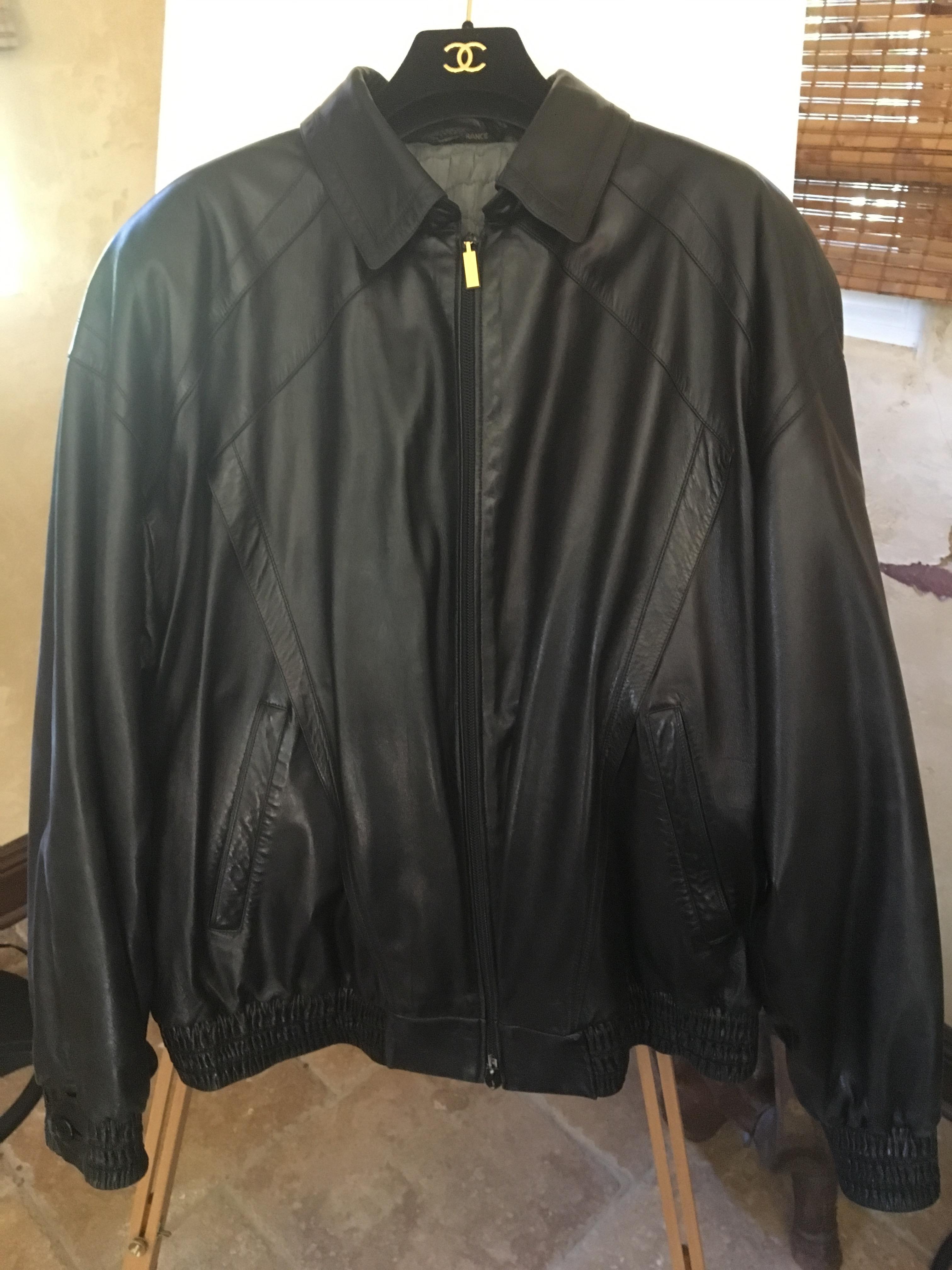 7bd010e3d32a Zilli Men s Jacket Zilli Calves Skin Leather Black Size 42-3 European 54  Size l - Leather Jackets for Sale - Grailed