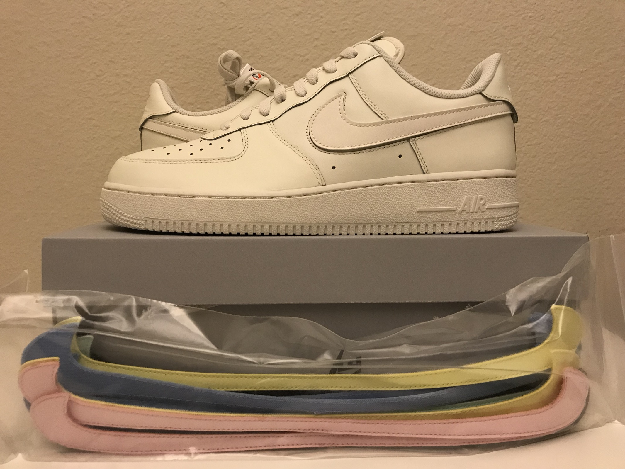 1a34e663e17 Nike Air Force 1 Low All Star Swoosh Pack Sail Size 10.5 - Low-Top ...
