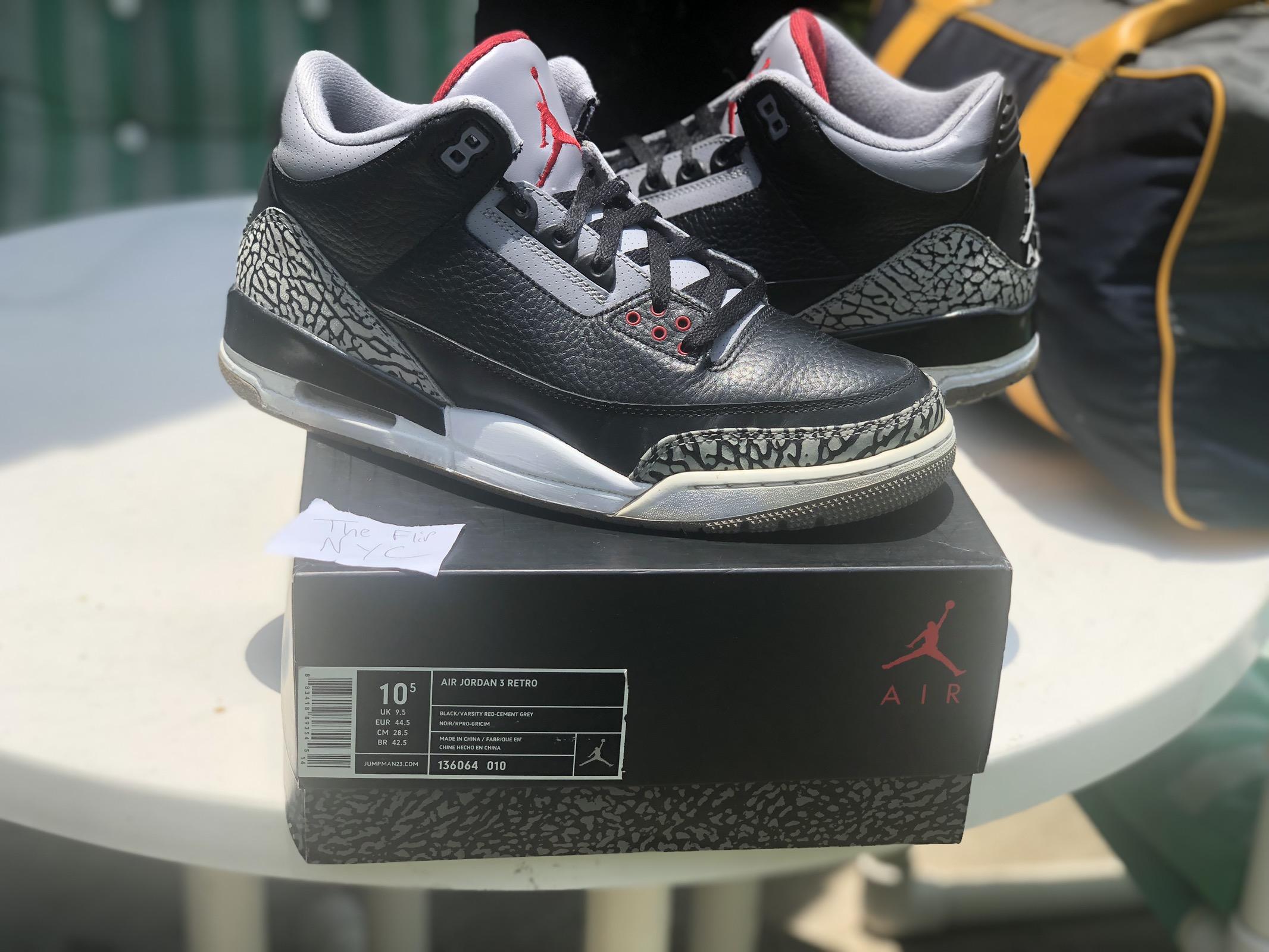 la meilleure attitude 24303 37e97 Air Jordan Retro 3 Black Cement BC3