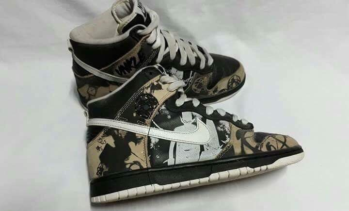 best website 5dec7 e091f Nike Nike Dunk High Unkle Dunkle By Mo Wax Size 7 - Hi-Top Sneakers for  Sale - Grailed