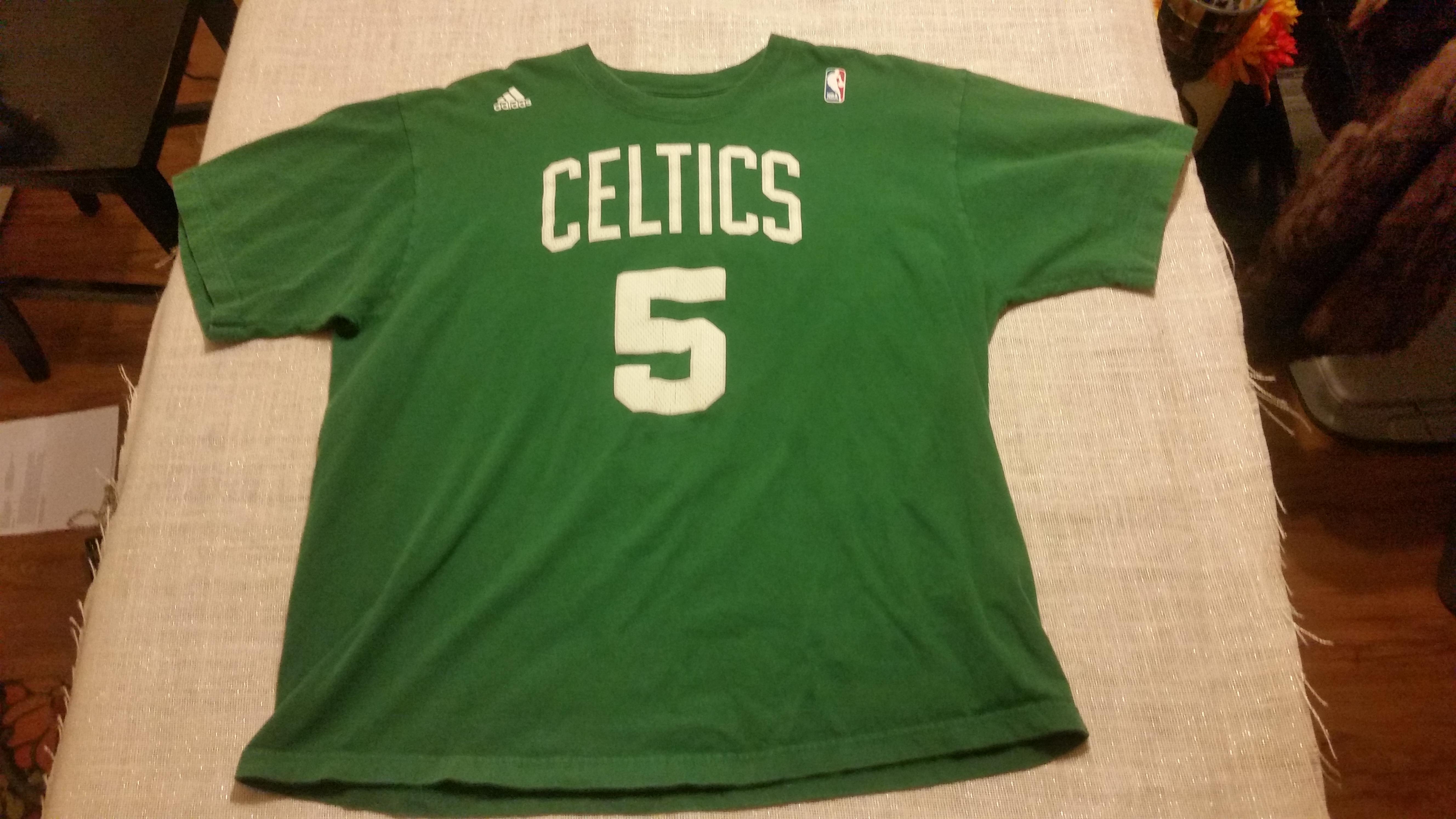 Nba XL NBA Men s Boston Celtics Kevin Garnett Green Adidas  5 Shirt Size xl  - Short Sleeve T-Shirts for Sale - Grailed c69f54ad7