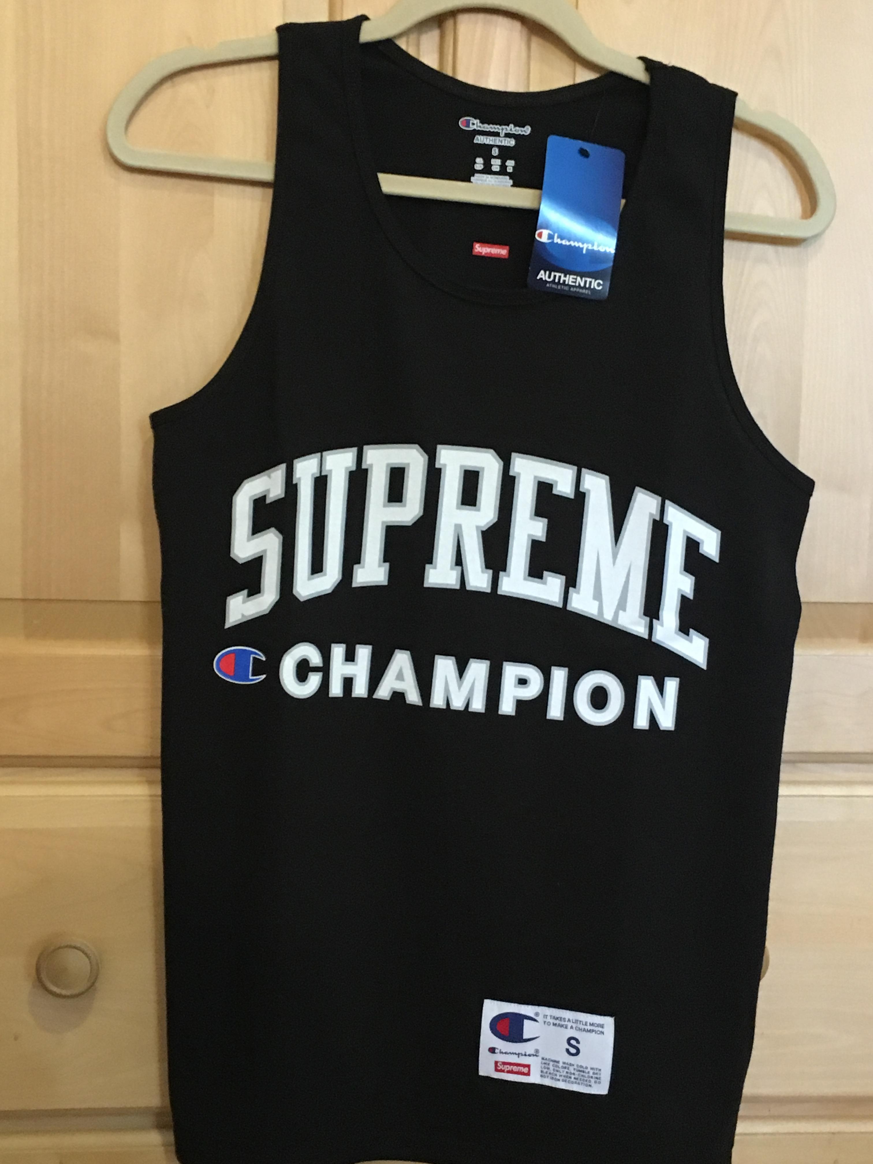 8c221bbc8853a7 Supreme × Champion ×. Supreme Champion Tank Top Black Small