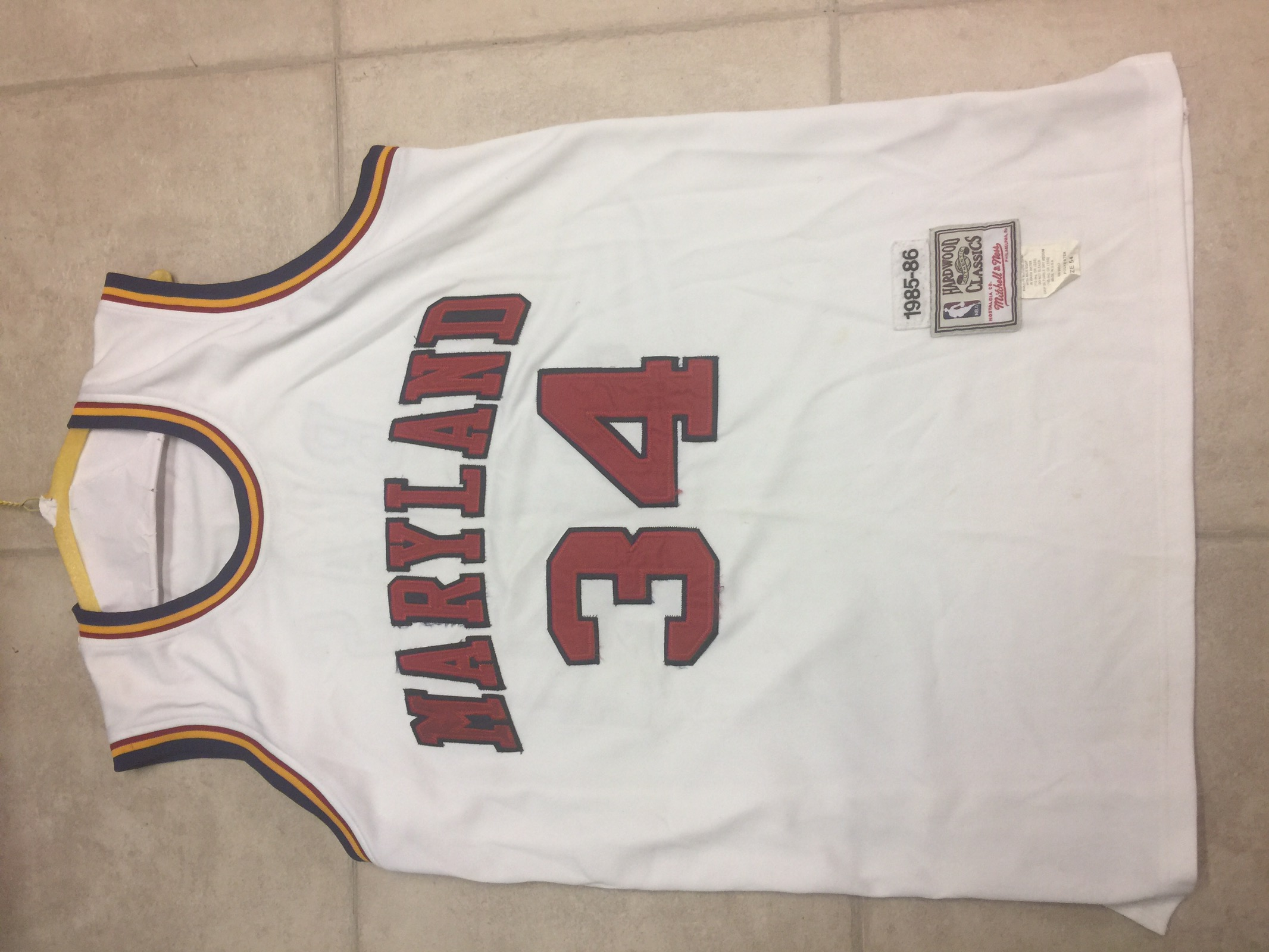 new styles 3fd1e 4a642 Len Bias Maryland Terrapins Mitchell & Ness College Basketball Jersey