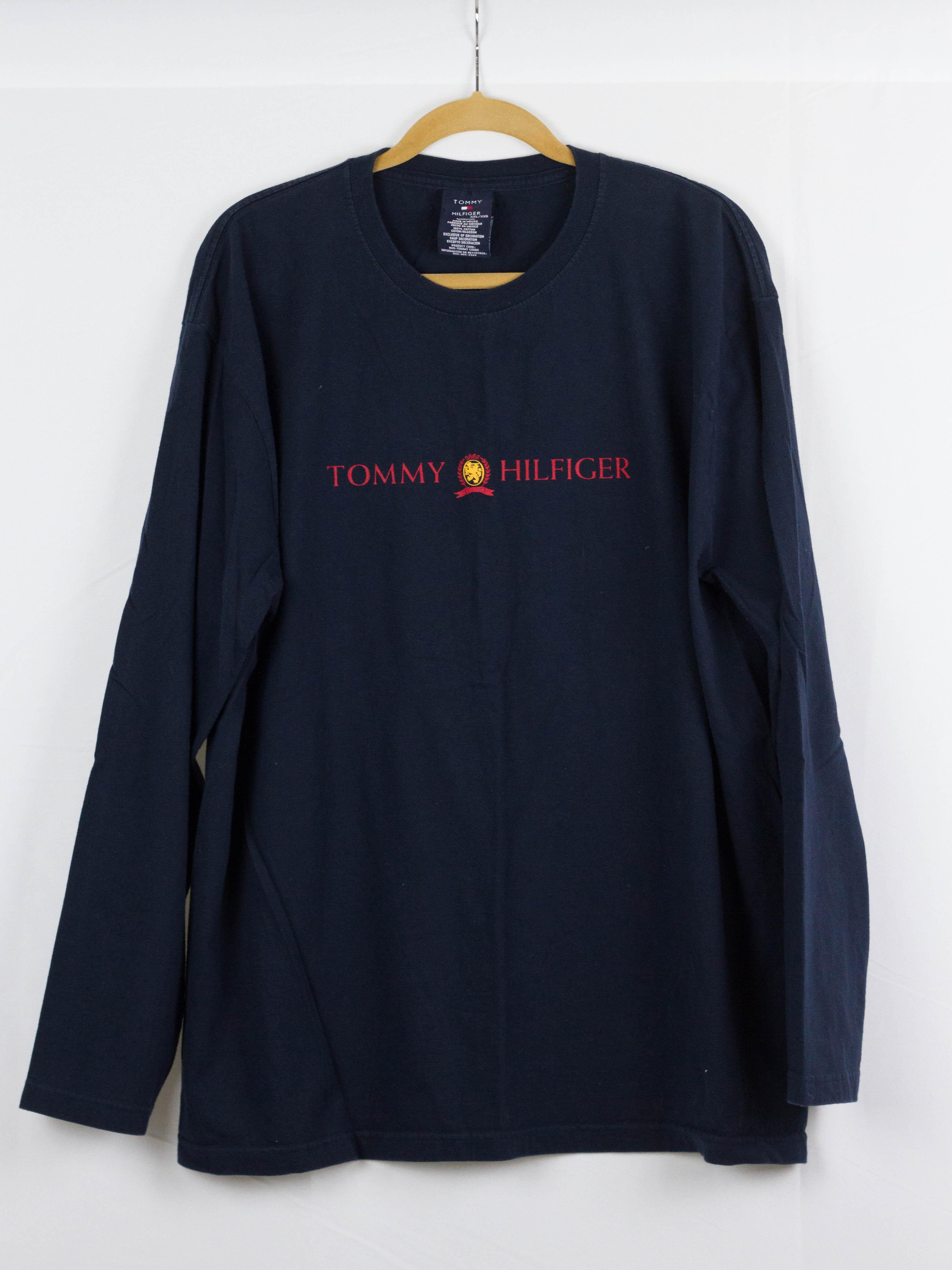 3e1f59a4ee9c Vintage × Tommy Hilfiger ×. VINTAGE HILFIGER CREST GUCCI-ESQUE NOT GUCCI  LONG SLEEVE SHIRT