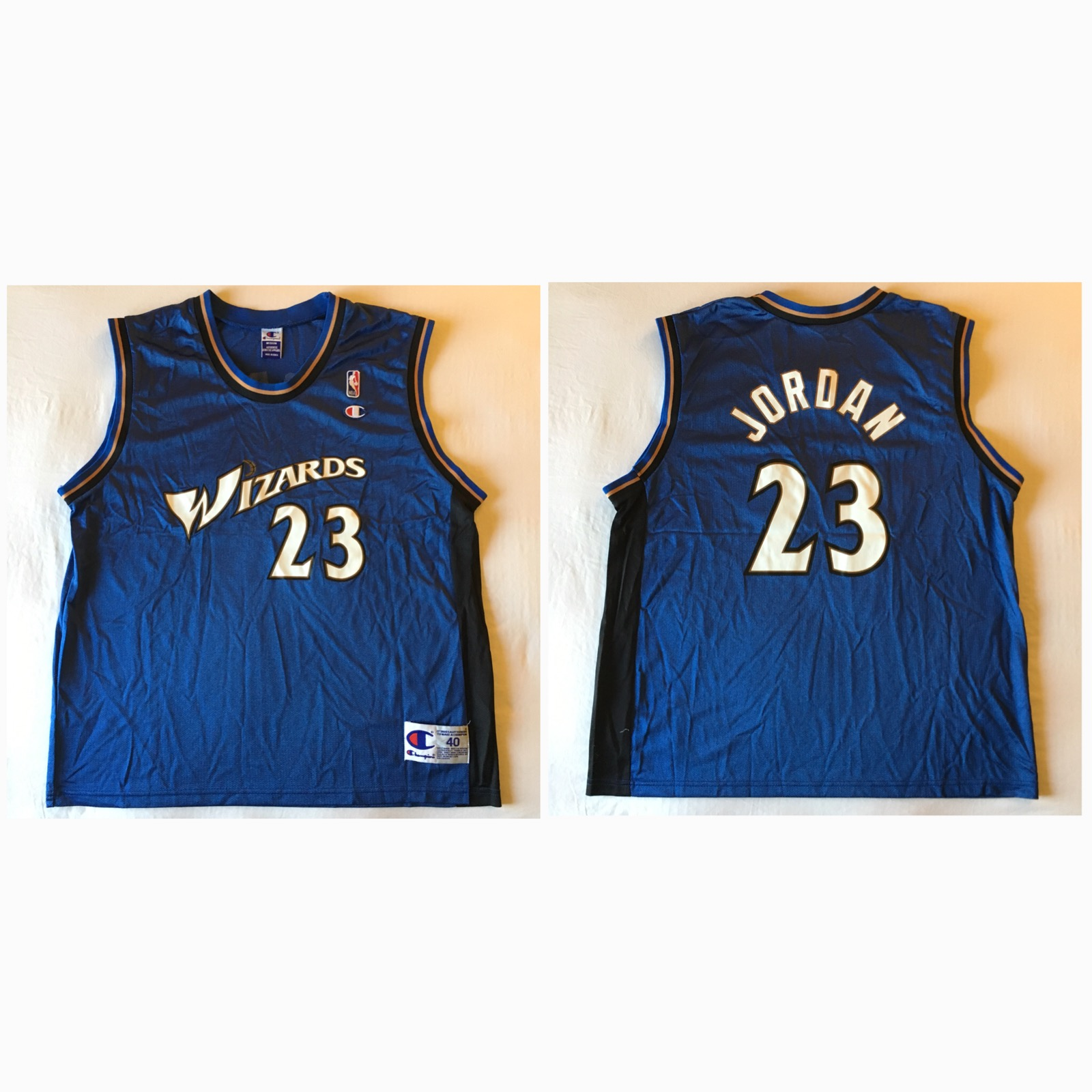 51d75ba231c Champion ×. 2001 Washington Wizards Michael Jordan 23 Jersey
