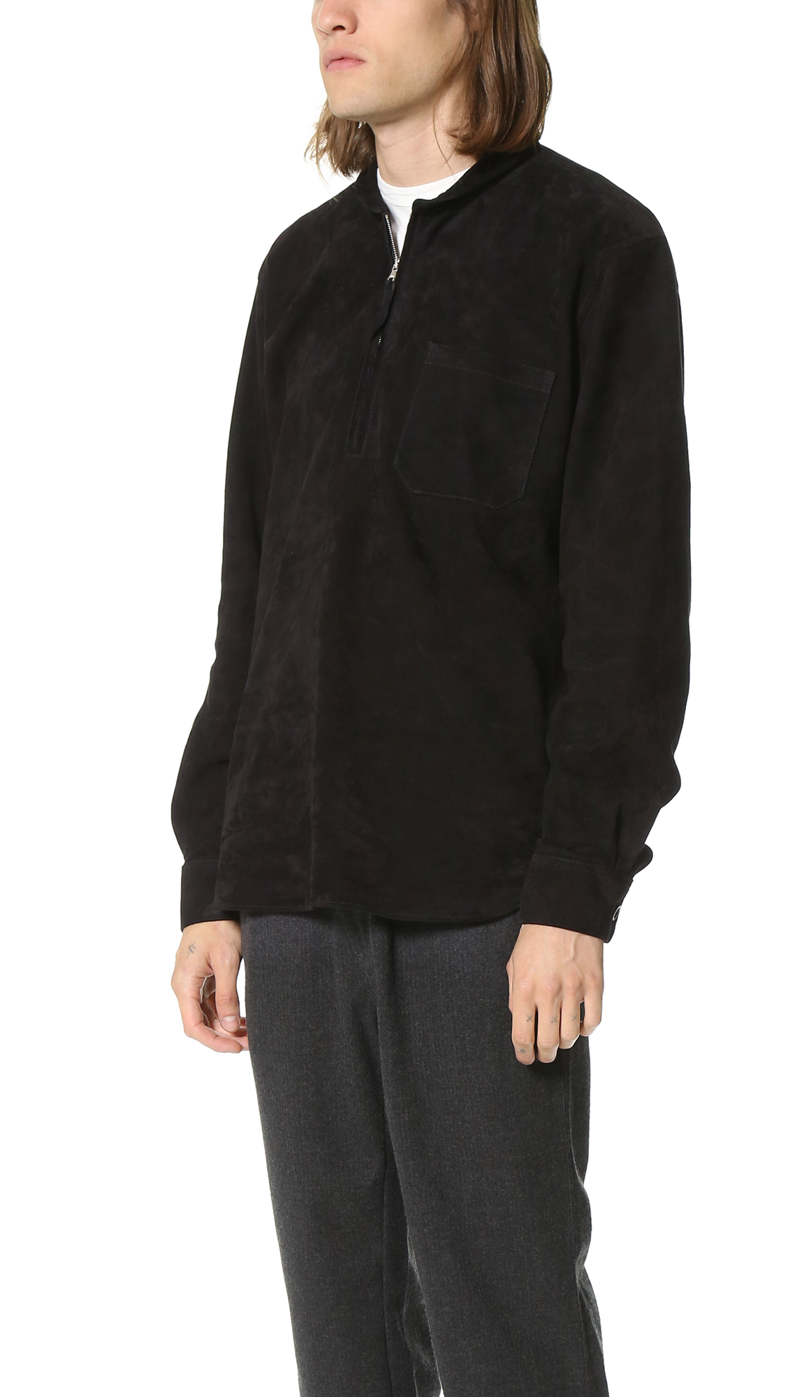 18b4764a1d19 Our Legacy Our Legacy Black Suede Shawl Zip Size s - Leather Jackets for  Sale - Grailed