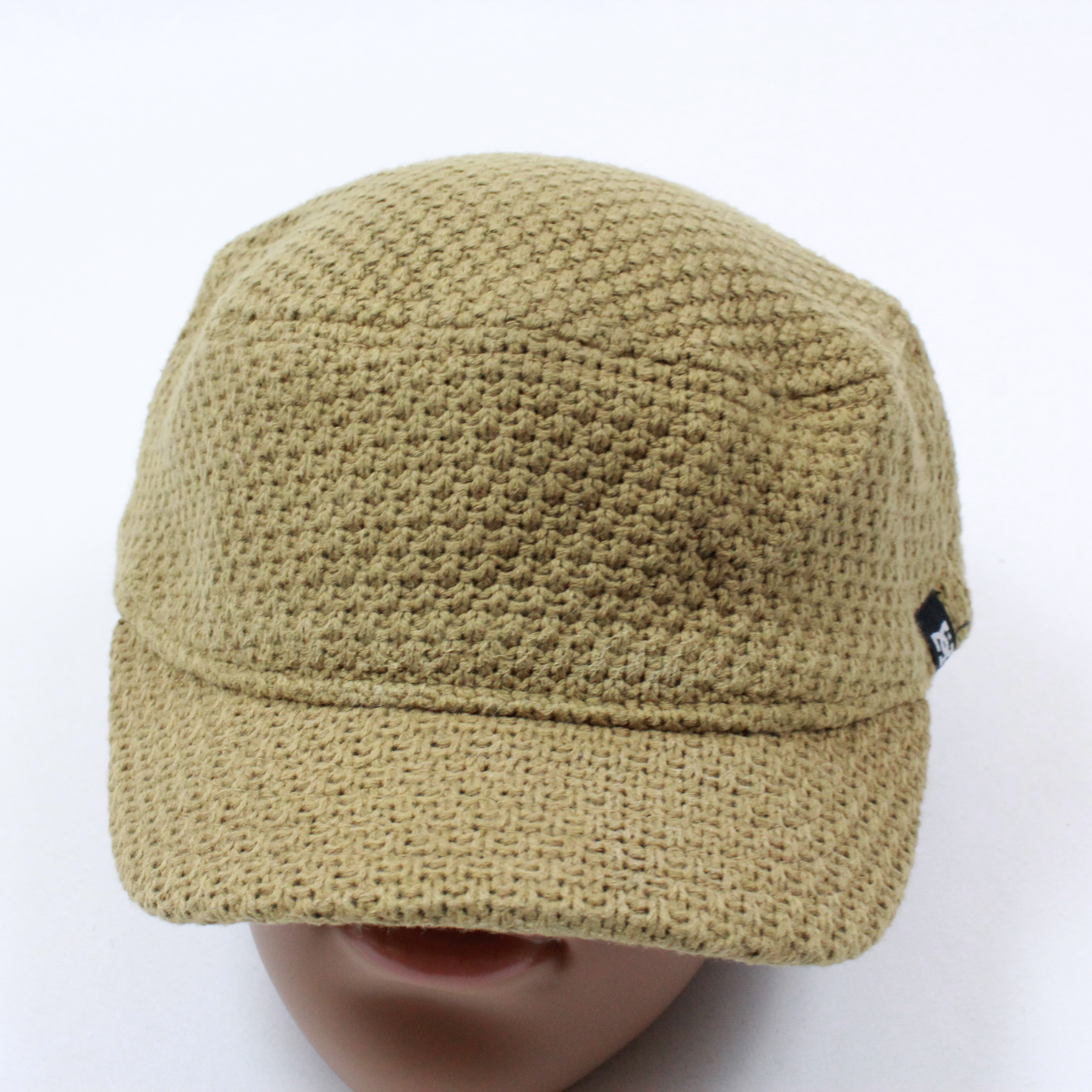 d6e88f1a4b3d1 Vintage × Dc × Street Wear. 90 s DC Army Cap Style Hat Camel Crotchet Ball  Cap Round Stretch Fit Adult S   M. Size  ONE SIZE