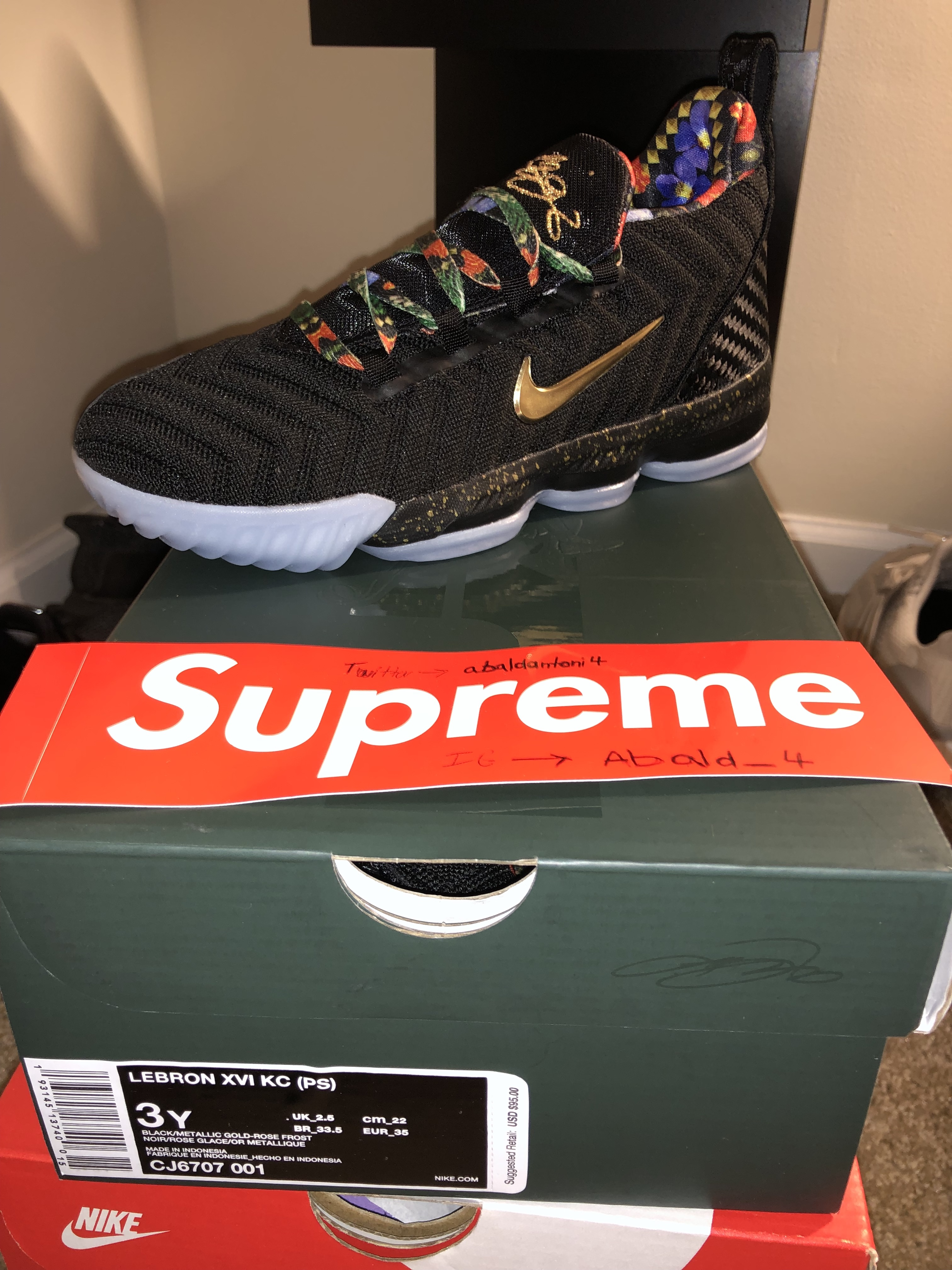 110f9d9013f Nike Nike Lebron 16 Watch The Throne (PS) Size 5 - Low-Top Sneakers for  Sale - Grailed
