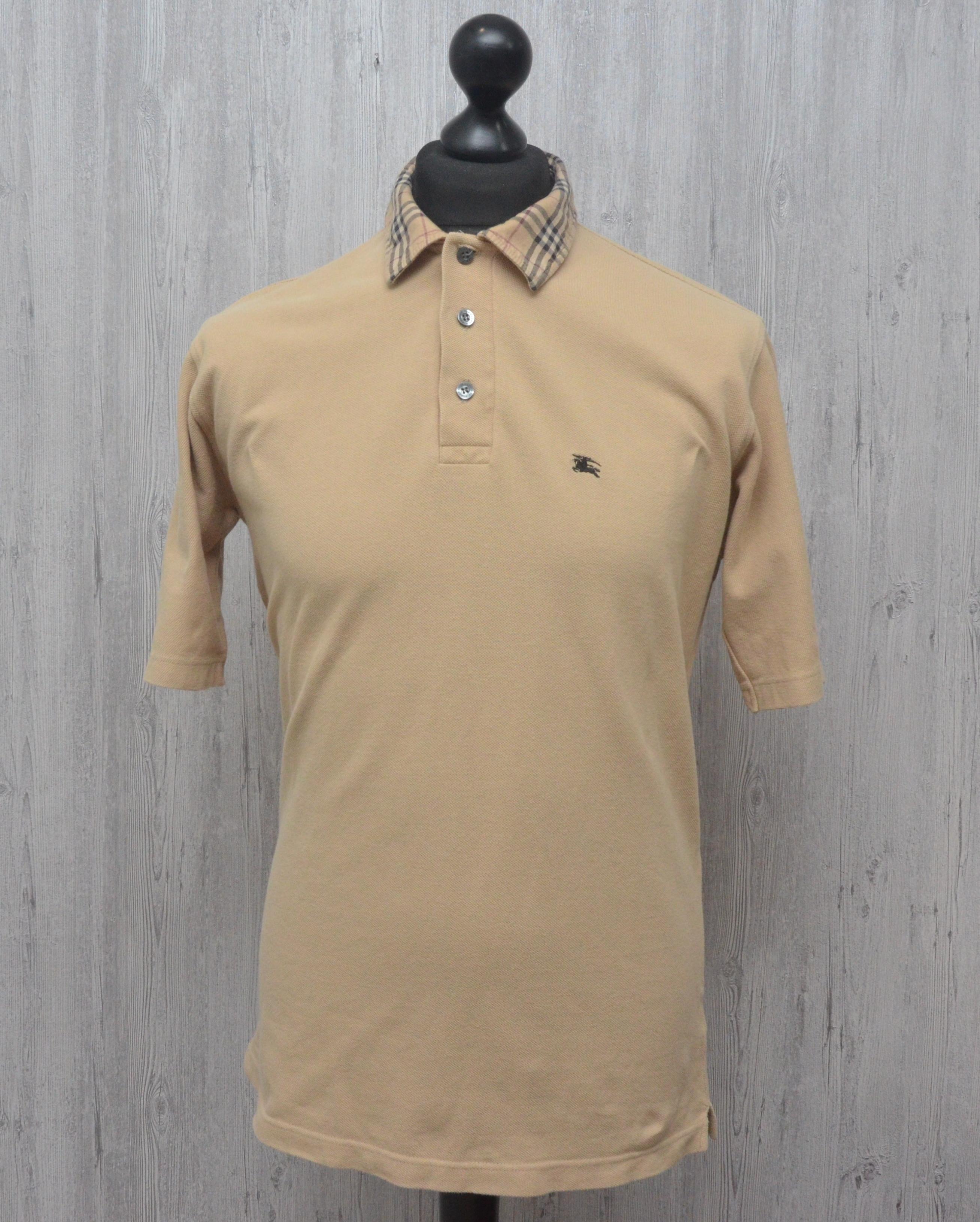 407694ca0 Burberry Polo Shirt Beige Nova Check Collar   Grailed