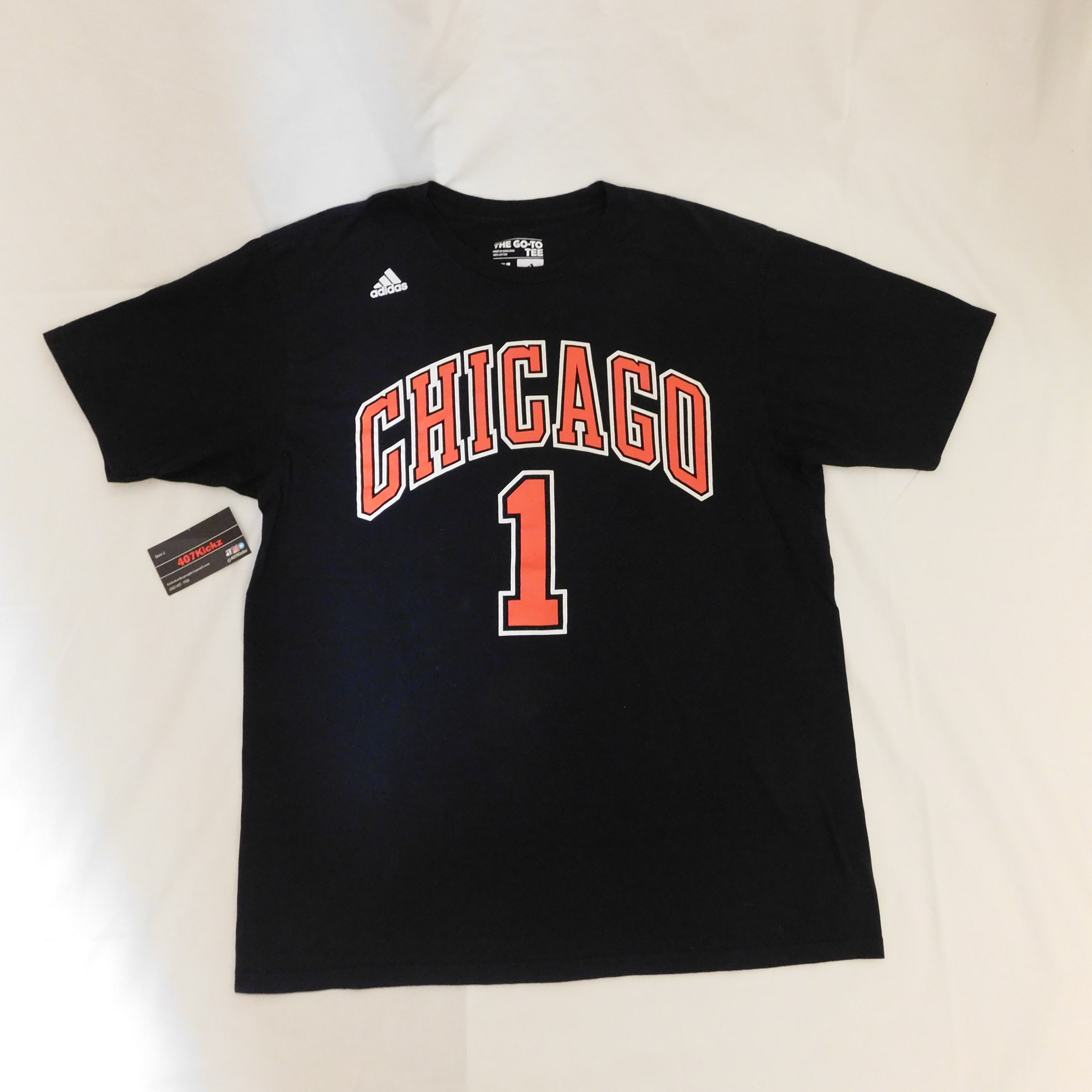 8c5df8e4c5eb2 Adidas Derrick Rose  1 NBA Chicago Bulls Jersey Style Tee T Shirt Black  Size xl - Short Sleeve T-Shirts for Sale - Grailed