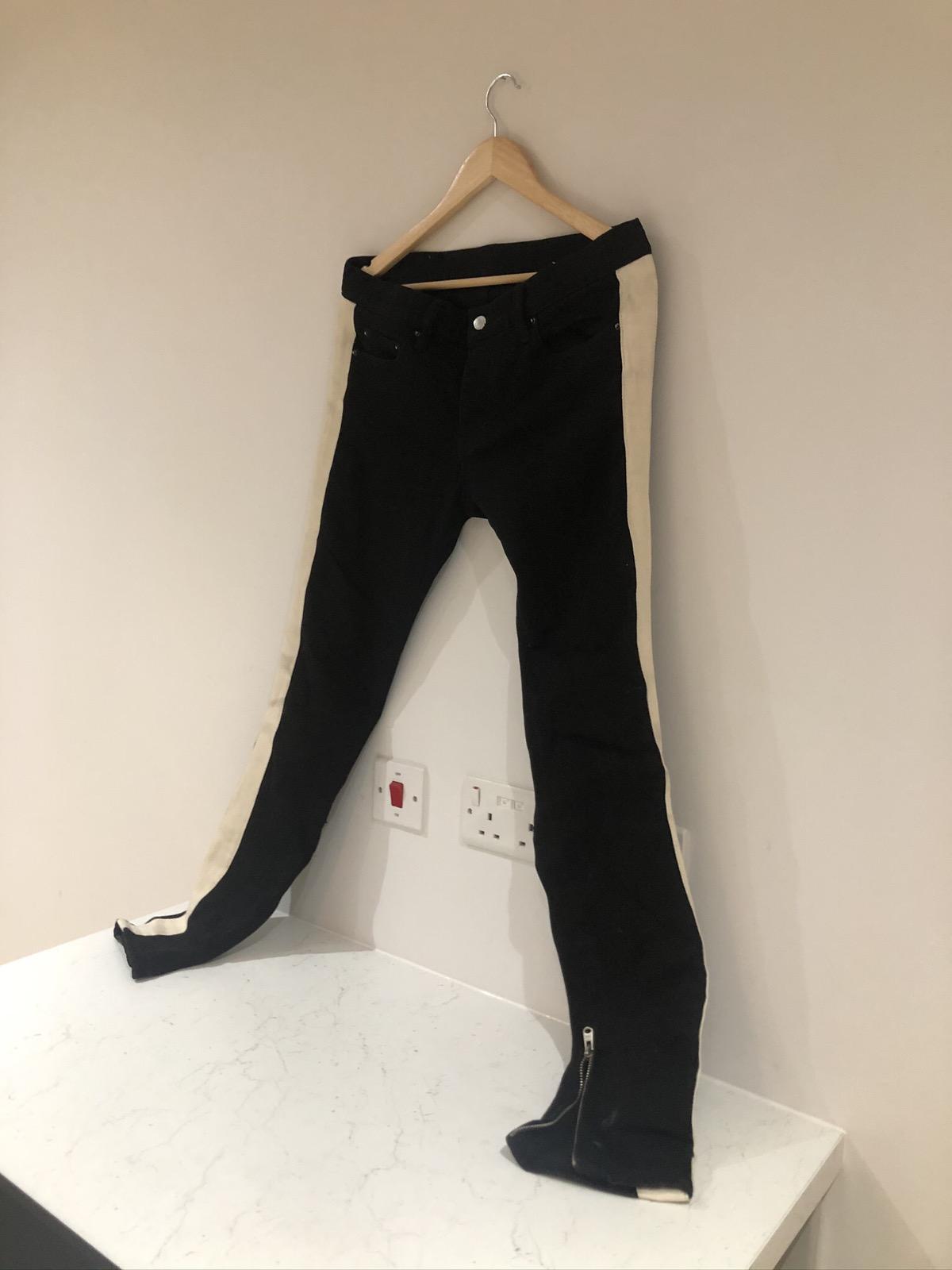 MNML Jeans Black Size 31 w/stripe and zip
