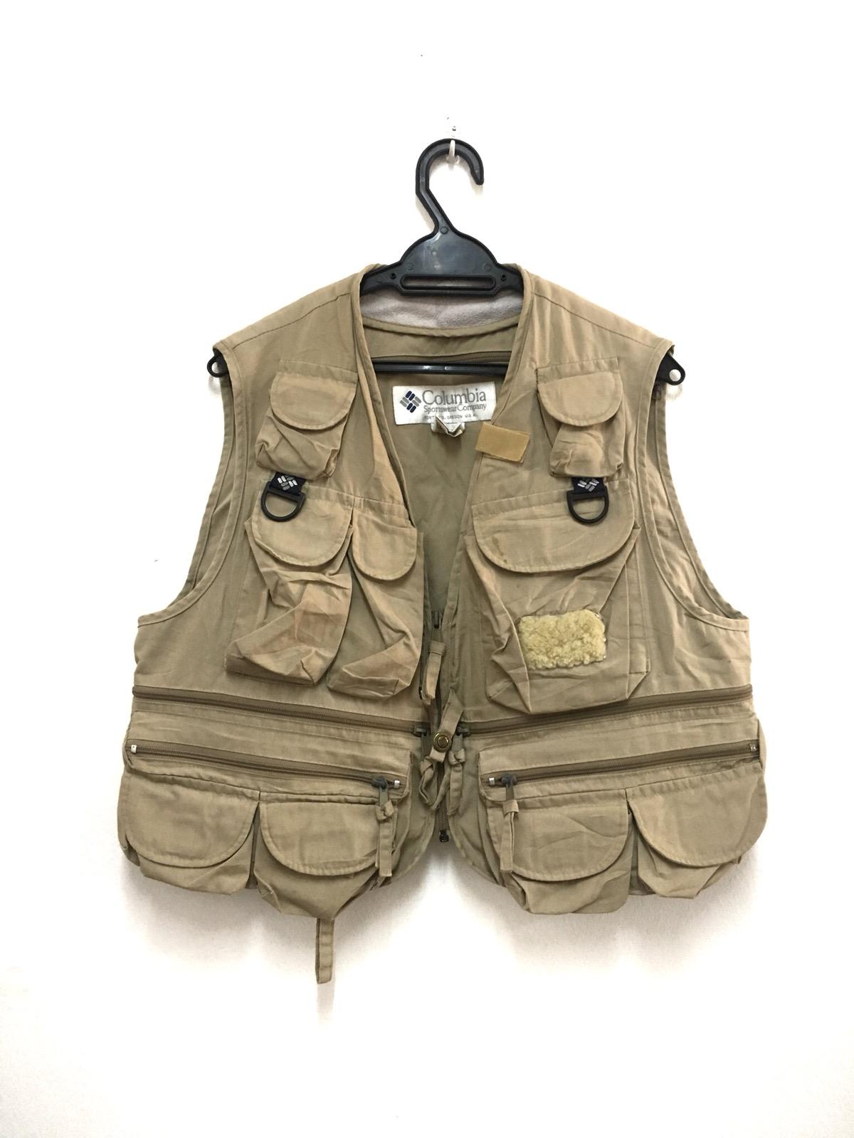 5eb4759740557 Columbia Columbia Pfg Tactical Vest Multi Pocket Parachute Outdoor ...