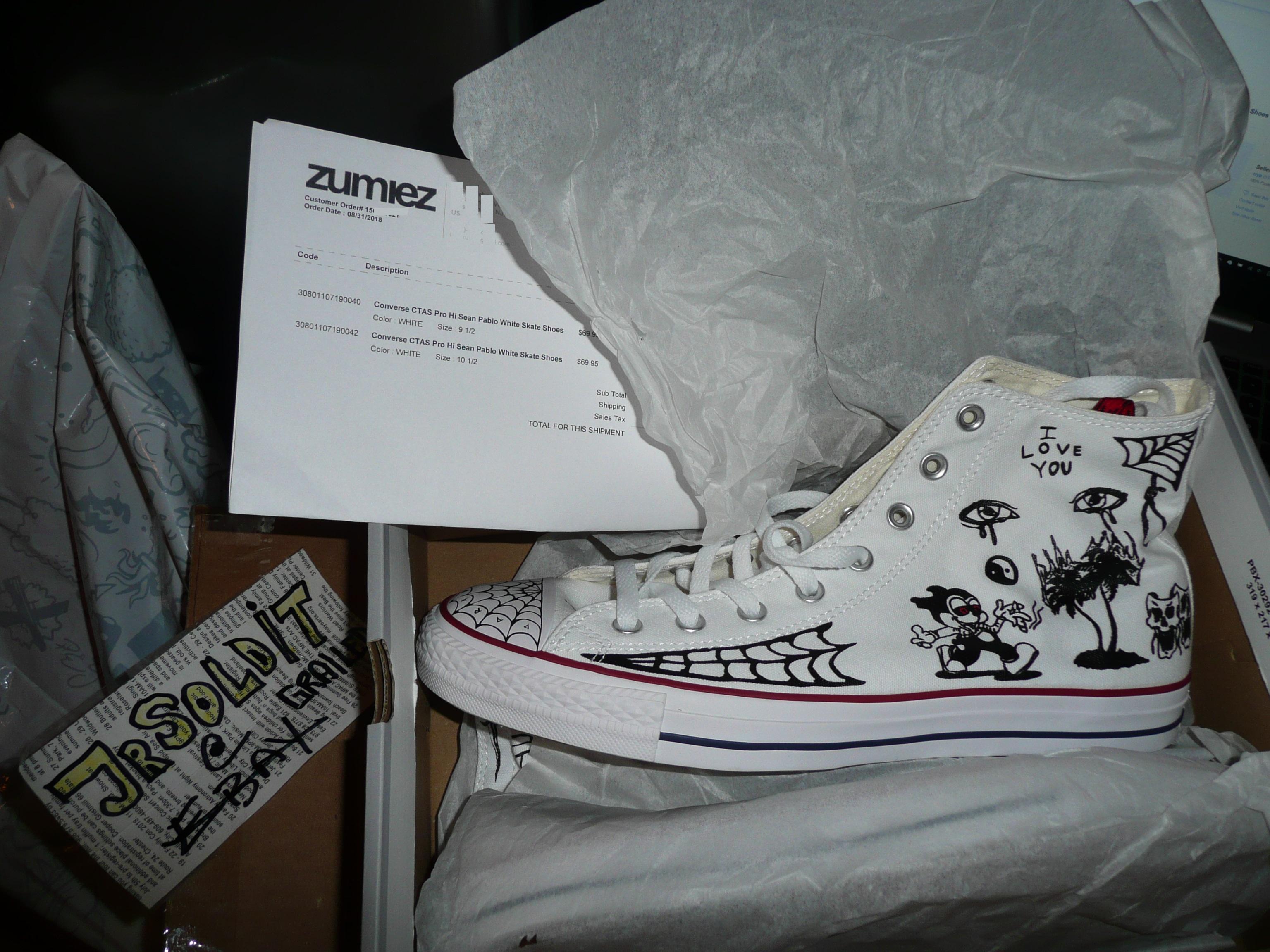 Converse Converse X Sean Pablo CTAS Pro High Top WHITE Chuck Taylor Size M  10.5   W 12.5 DS  2018  Size 10.5 - Hi-Top Sneakers for Sale - Grailed d2282bb5f